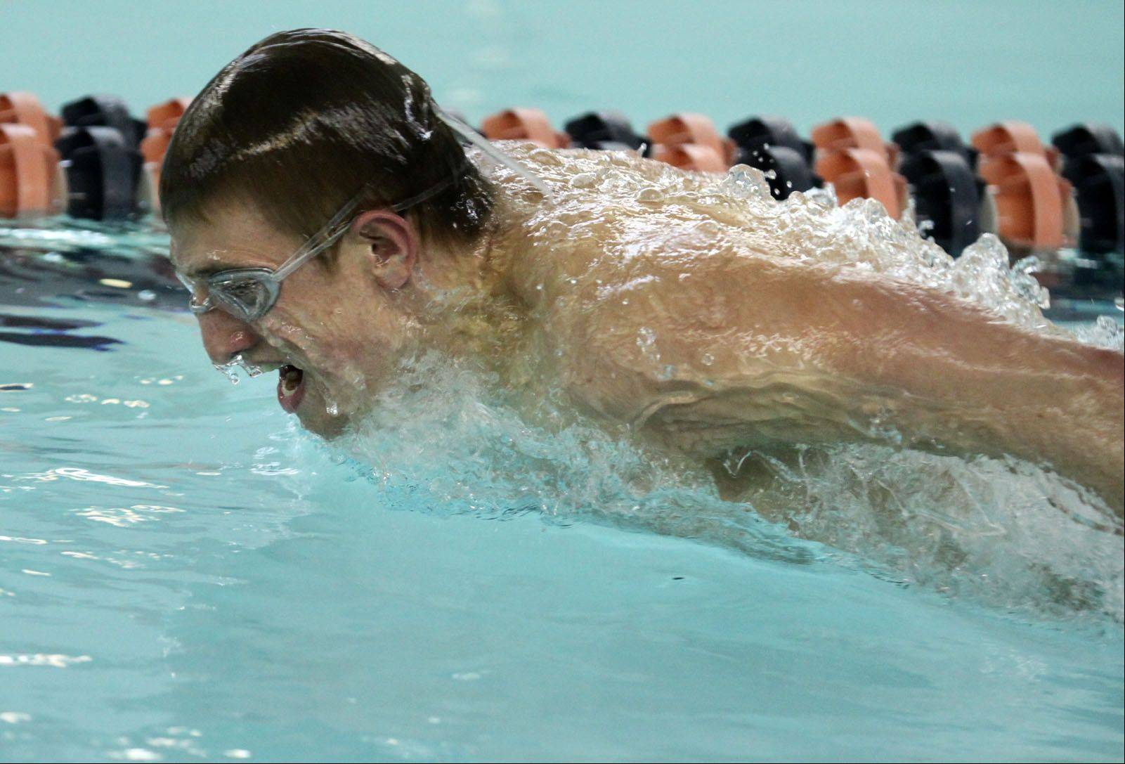 Buffalo Grove High School senior Matt Schulstad of Arlington Heights practices Wednesday at the school�s pool. School District 214 officials have approved a plan for $11 million in renovations at the 40-year-old facility.