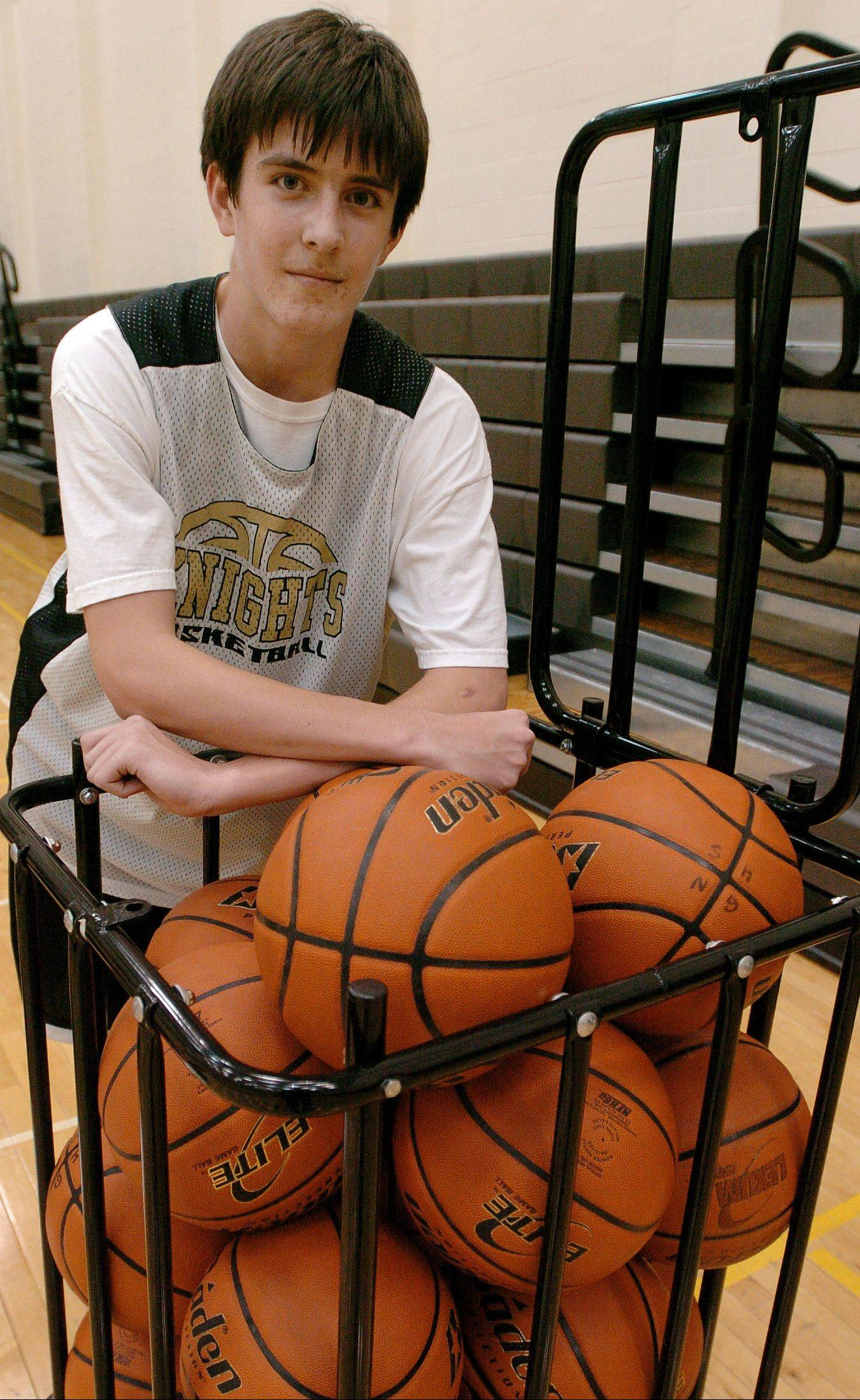 Freshman Aidan Einloth is having a ball getting meaningful varsity playing time for Grayslake North's boys basketball team.