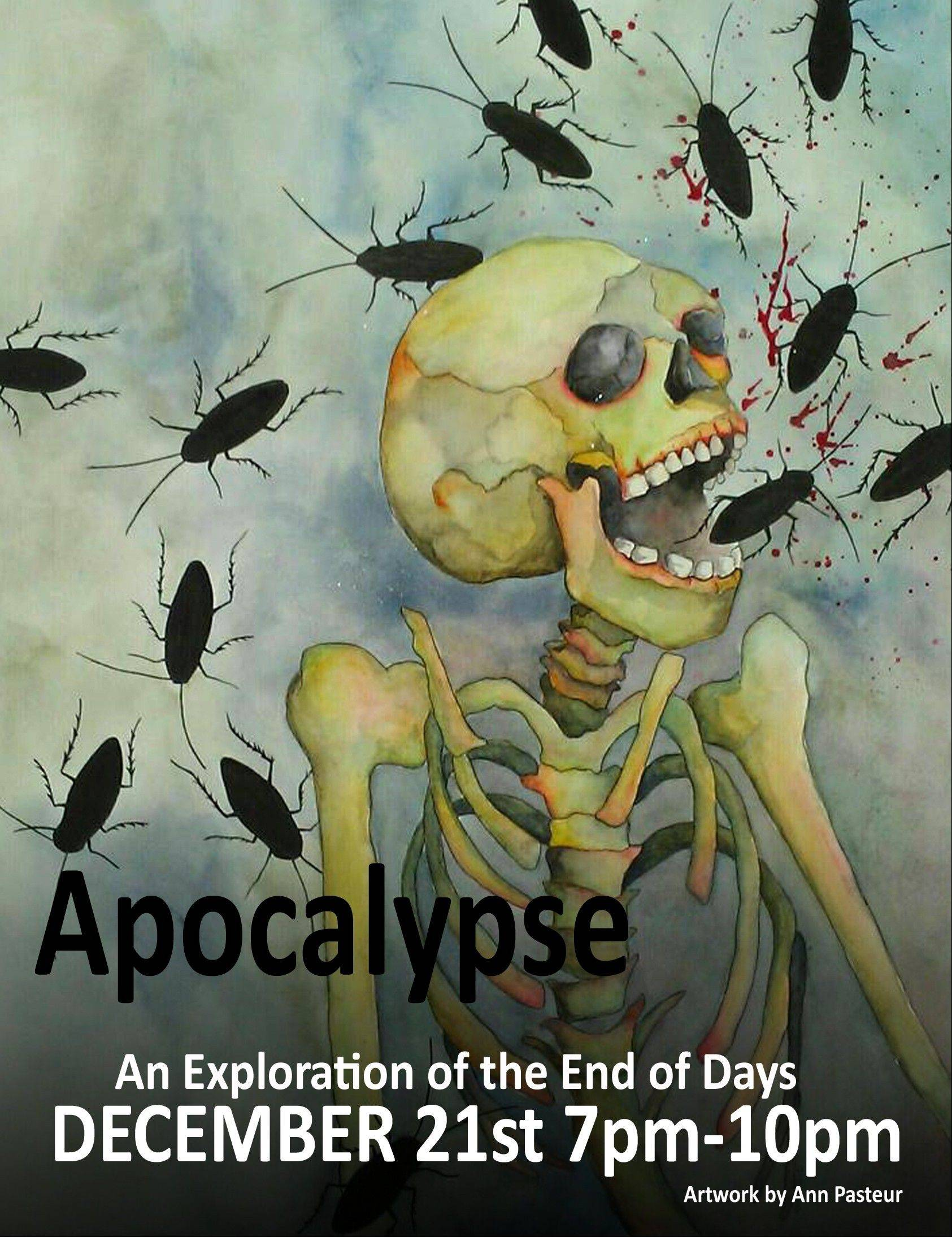 "A picture by artist Ann Pasteur is featured in a flyer for the ""Apocalypse: An Exploration of the End of Days"" art show Friday night at Water Street Studios in Batavia Friday. The exhibit will feature artists' interpretations of the end of the world. The exhibit will run through Dec. 30."