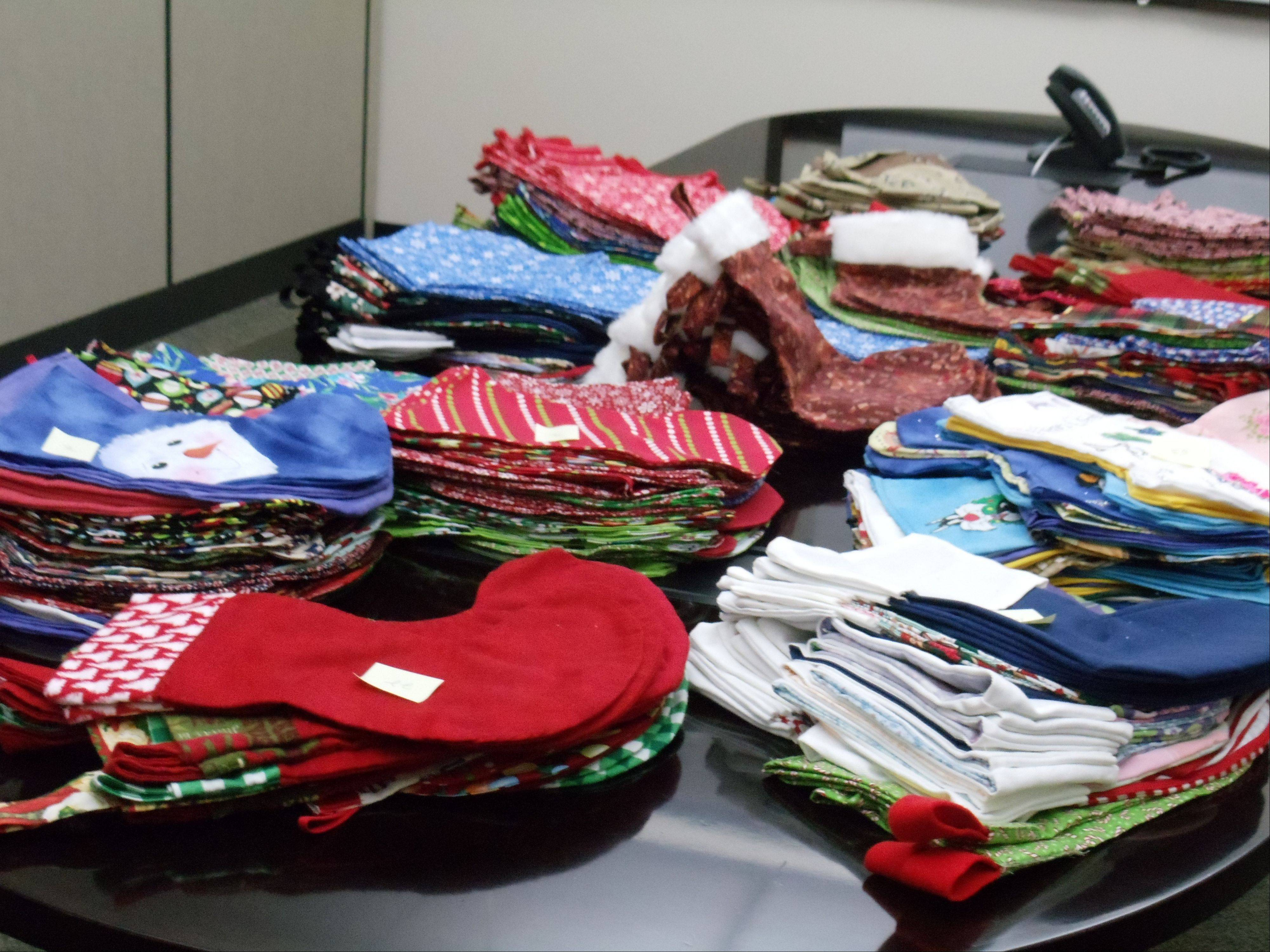 A group of DuPage County employees produced 885 stockings that were filled by Operation Support Our Troops and mailed to servicemen and women overseas.