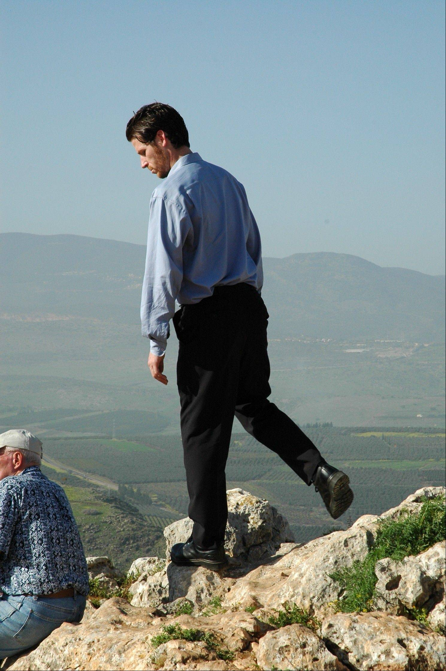 While attending graduate school in Jerusalem, Lombard native Tom Meyer visited many biblical locations, such as this spot overlooking the Sea of Galilee.
