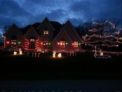 This year's winner is Jeffrey Lawnicki's Light Up the Sky display at 15N800 Pheasant Fields Lane in Hampshire. Jeffrey wins a Toro snow blower valued at $850.