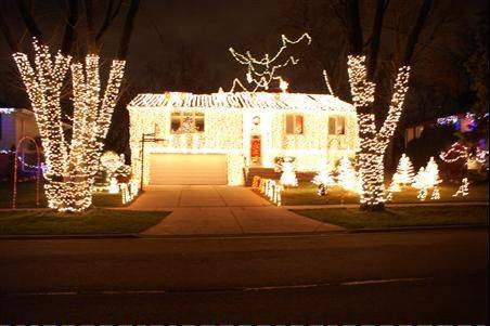 The year's second-place winner is the Schluckbier Christmas Light Explosion at 503 S. Dartmouth Lane in Schaumburg. The display has 50,000 lights synchronized to five Christmas songs to listen to from the warmth of your car.