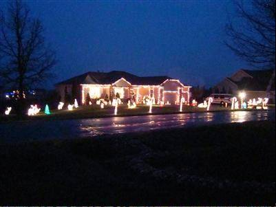 The Labay house at 8798 Bentley Lane lights up Spring Grove.