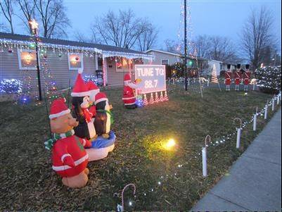 Check out the Tarkowski display at 653 Walnut Road in Wauconda. The display includes 16 channels sequencing more than 6,000 LED lights and 14 songs, Mark Tarkowski says. Tune in to 88.7-FM to hear the music synched to the show, which runs from 6 to 9 p.m. Sunday-Thursday and from 6 to 9:30 p.m. Friday and Saturday.