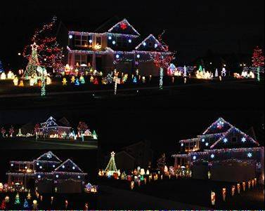 "One of Elgin's newest and brightest holiday displays -- Lights on Sienna -- can be found at 234 Sienna Drive. (just south of Randall Road on the corner of Highland and Sienna). The display features thousands of LED lights sequenced to music and transmitted over the radio, more than 100 lit figurines, a homemade ""Polar Bear Cafe"" with spinning peppermint, a frosted gingerbread house and a 10-foot-tall twirling mega tree, Matt Cook says. Visit www.lightsonsienna.com for more information."