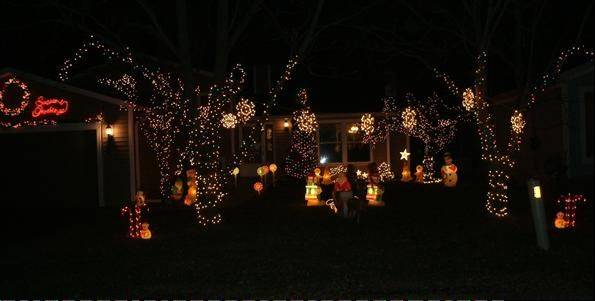 """Just lights ... no fancy music,"" says Mary Dugenske of the display at 801 Ridgewood Drive in Round Lake."