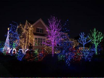 A 130,000-light display dances to over 20 songs controlled by four miles of connecting wire, nine miles of lights, 640 channels and 40 control boxes at the Papiech house. The show runs from 4:30 to 10:30 p.m. daily at Herrington Drive and Bealer Circle in Geneva.