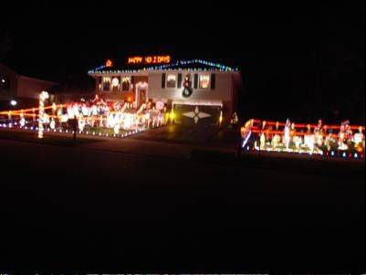 The display at 44 Kingsport Drive in Schaumburg is too large to fit in Bruce Beddard's yard. The decorations include a 15-piece choir, penguins playing volleyball, a large Nativity scene, North Pole stand with Santa and Mrs. Claus along with four Christmas trees. More than 100 toy soldiers and 200 candy canes line the perimeter.