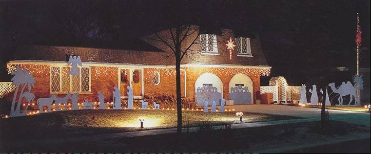 The expansive handmade Nativity scene was designed by the Miur family at 446 N. Willow Wood Drive in Palatine. The display has graced the neighborhood for more than 20 years.