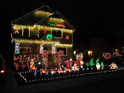 Can you see Santa? Come join in our Christmas tradition of decorating our home at 111 S. I-oka Ave. in Mount Prospect, says Matthew FioRito. The display includes penguins, Rudolph, Bumble and Snoopy, plus Santa taking off on his LED runway.