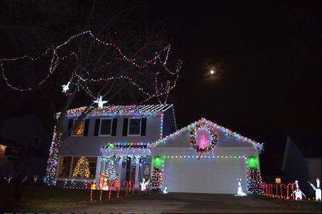 "The Kotecki house at 737 Brian Ave. in Schaumburg is decorated with LED lights. ""Stop by and look at all the LED lights we have on the house,"" Randy Kotecki says. ""You will also notice all the animals we have throughout the yard ... even on the roof."""