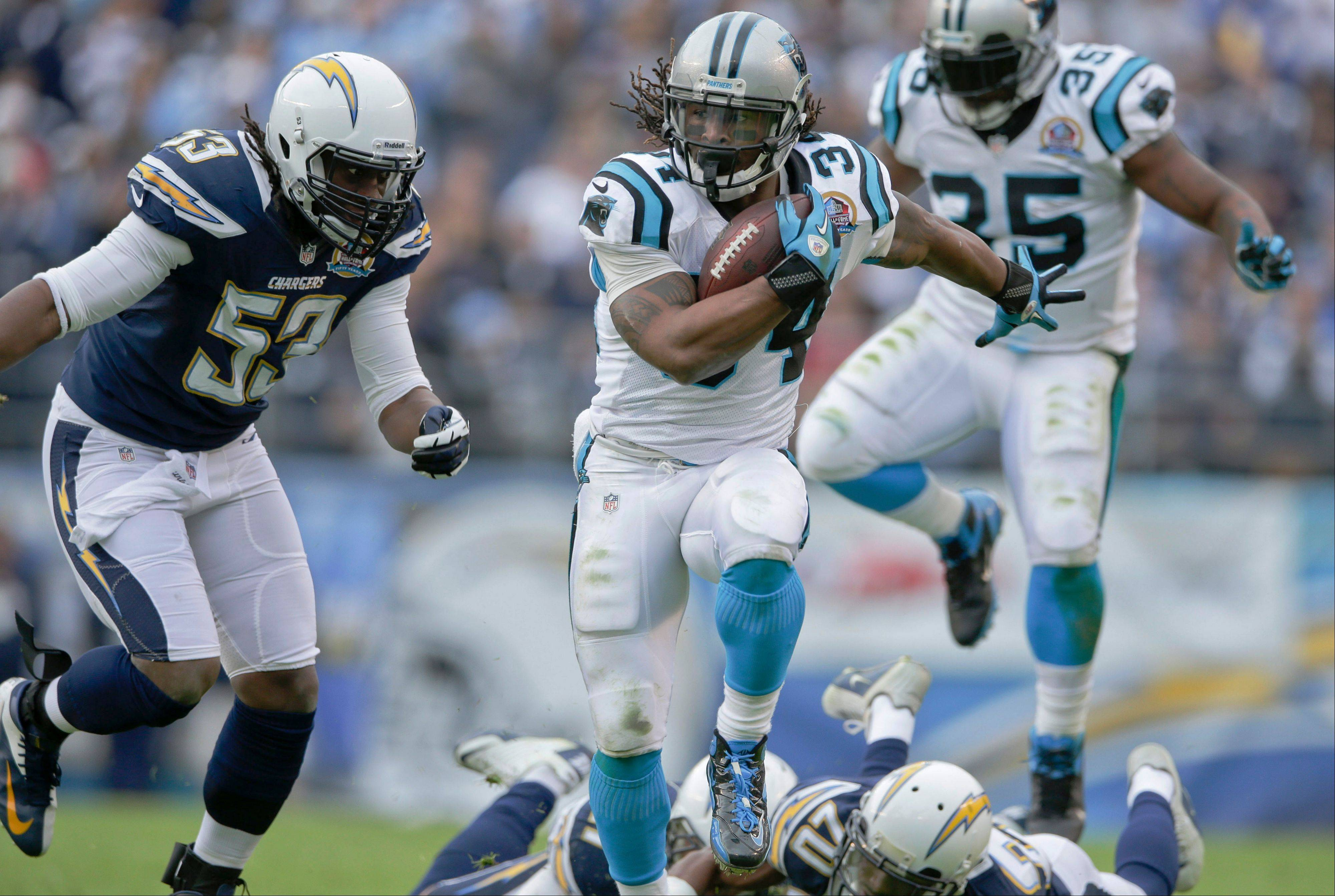 Panthers RB DeAngelo Williams has scored in back-to-back weeks and figures to be a great play this week with the 4-10 Raiders in town.