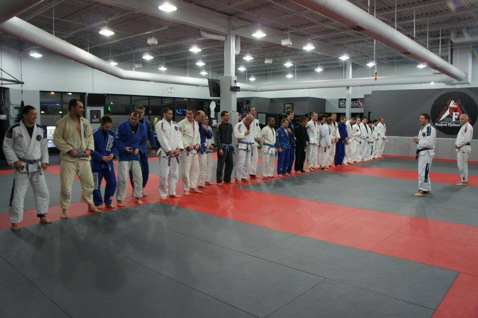 This is a photo of Fusion Fitness MMA's Brazilian Jiu Jitsu class.