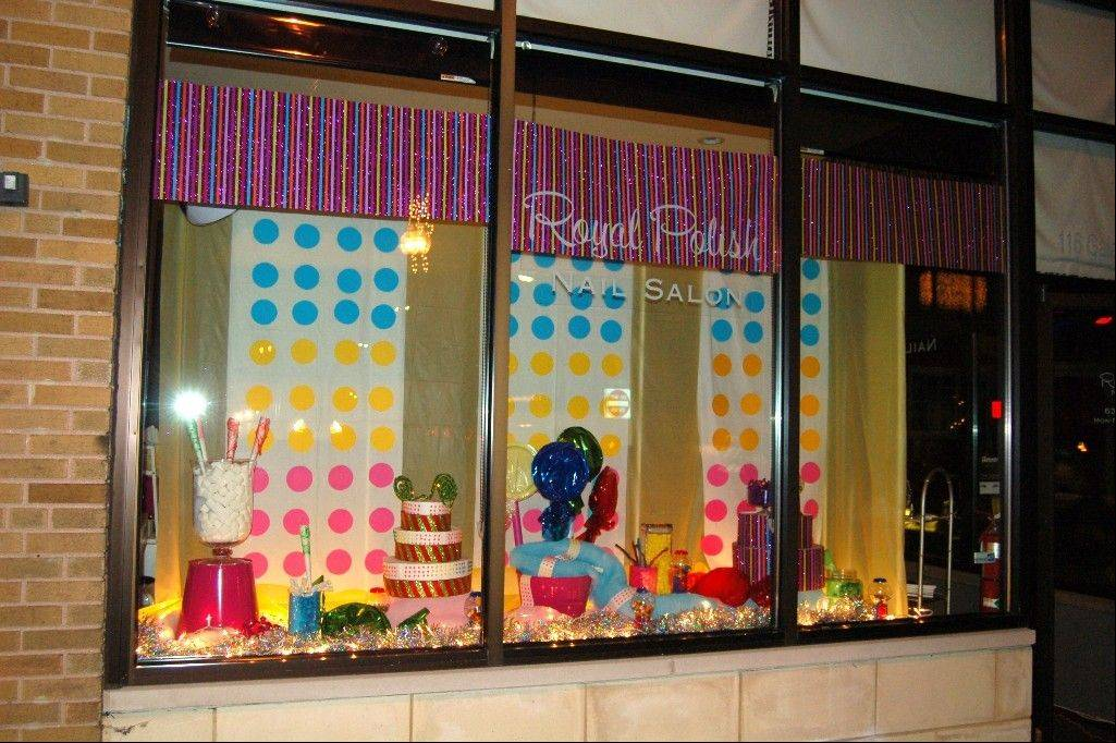The candy-themed window of Royal Polish Nail Salon in West Chicago was voted the People's Choice winner in the Frosty Fest Window Decorating Contest.