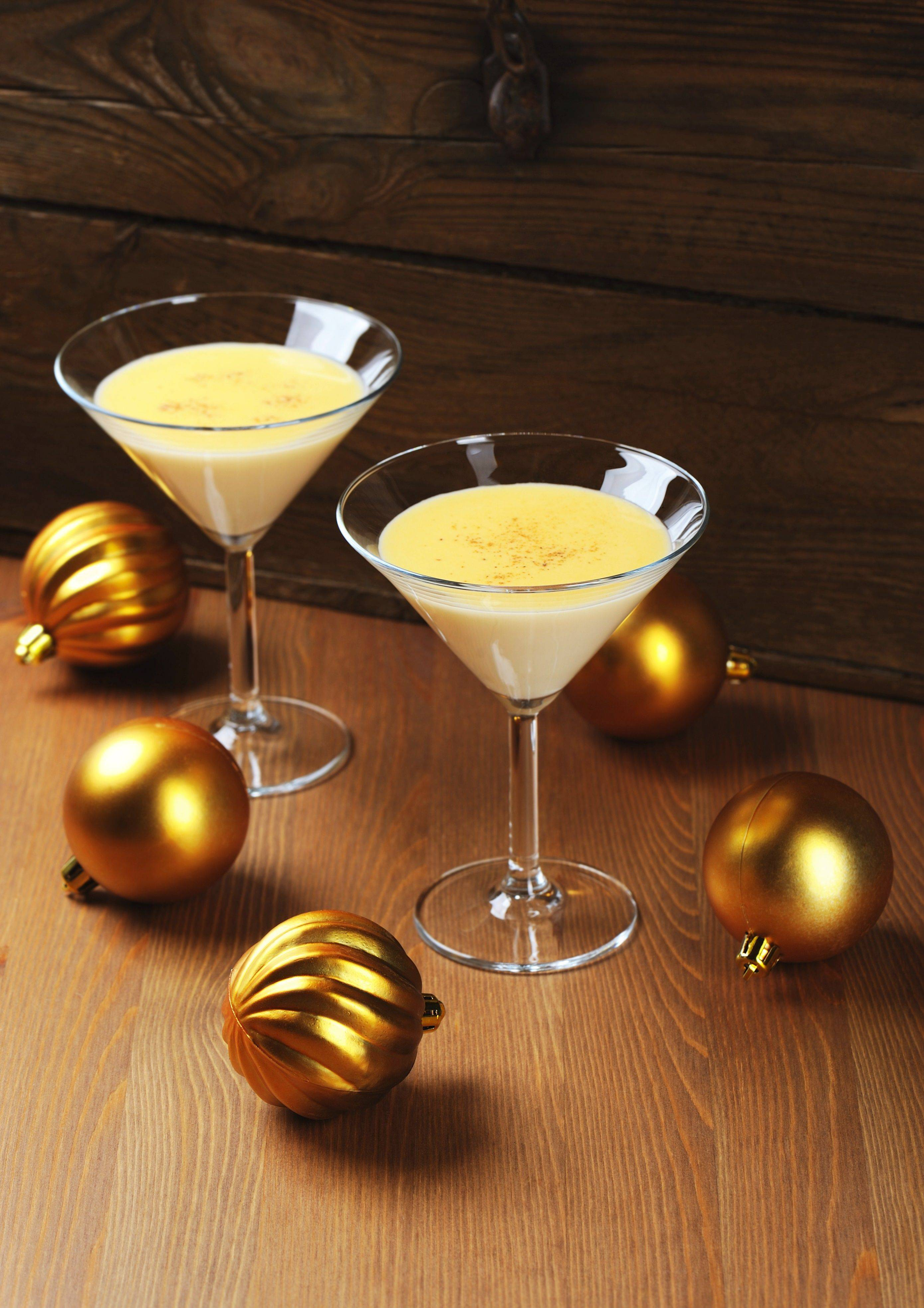 Eggnog is a popular dairy-based cocktail. Try making it by the glass instead of by the pitcher.