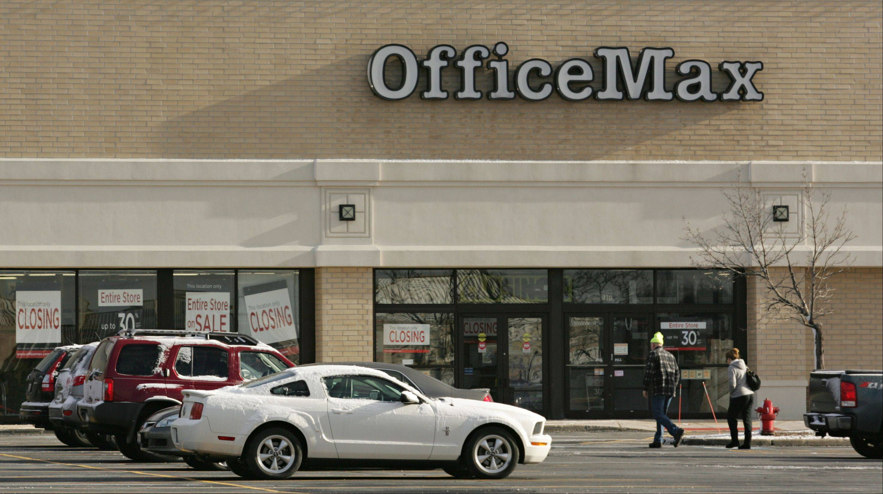 Office Max in West Dundee, which has been open since 1993, is closing in March. An official said the company is closing that location to focus on newer stores nearby. Its 16 employees will be placed at other stores.