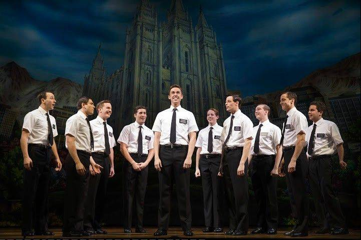 "An enthusiastic audience greeted the arrival of the deliciously subversive, Tony Award-winning ""The Book of Mormon"" at the show's official opening Wednesday at the Bank of America Theatre."