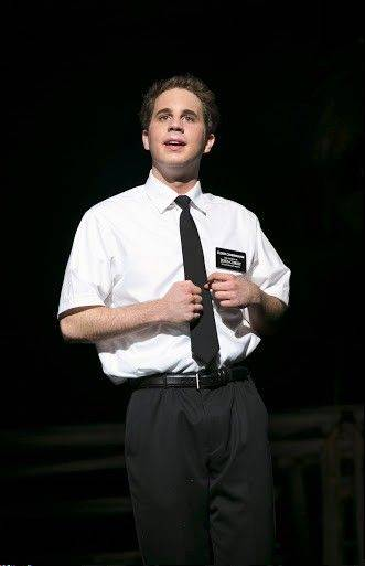 "Ben Platt steals the show as the adorkable Elder Cunningham on Broadway in Chicago's ""The Book of Mormon"" at Chicago's Bank of America Theatre."