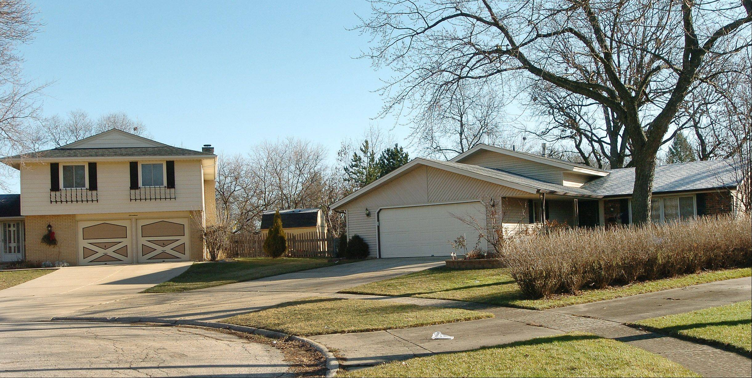Homes along Tilipi Court in Schaumburg's Weathersfield neighborhood are typical of the area.