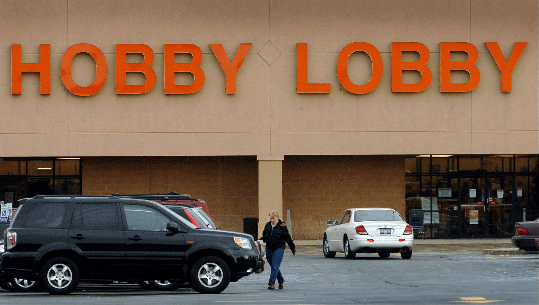 Customers leave a Mundelein Hobby Lobby in 2007.