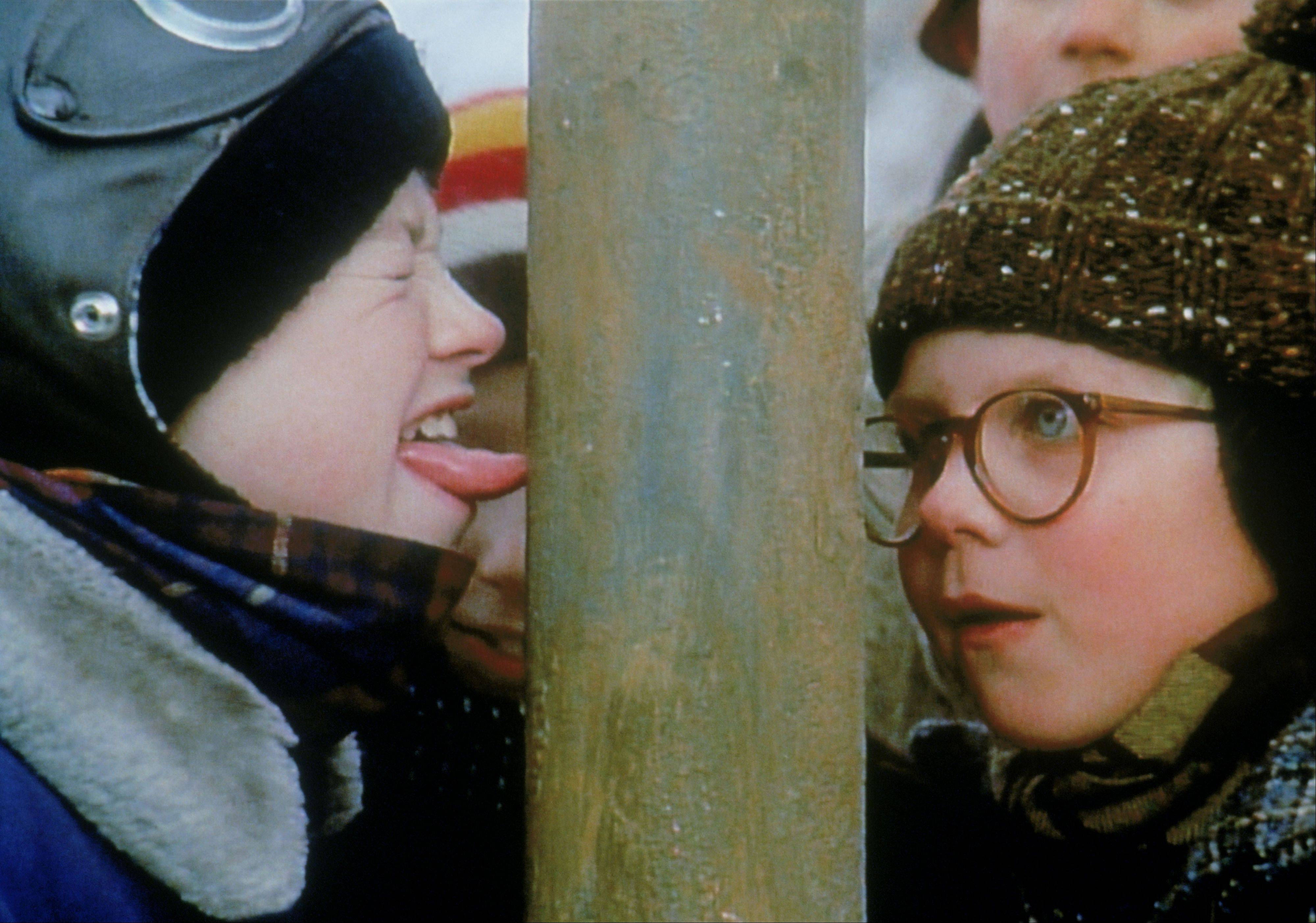 "COURTESY OF MGM The triple-dog-dare gets Flick every time in ""A Christmas Story."" TBS is running the film for 24 hours straight starting at 7 p.m. Christmas Eve."