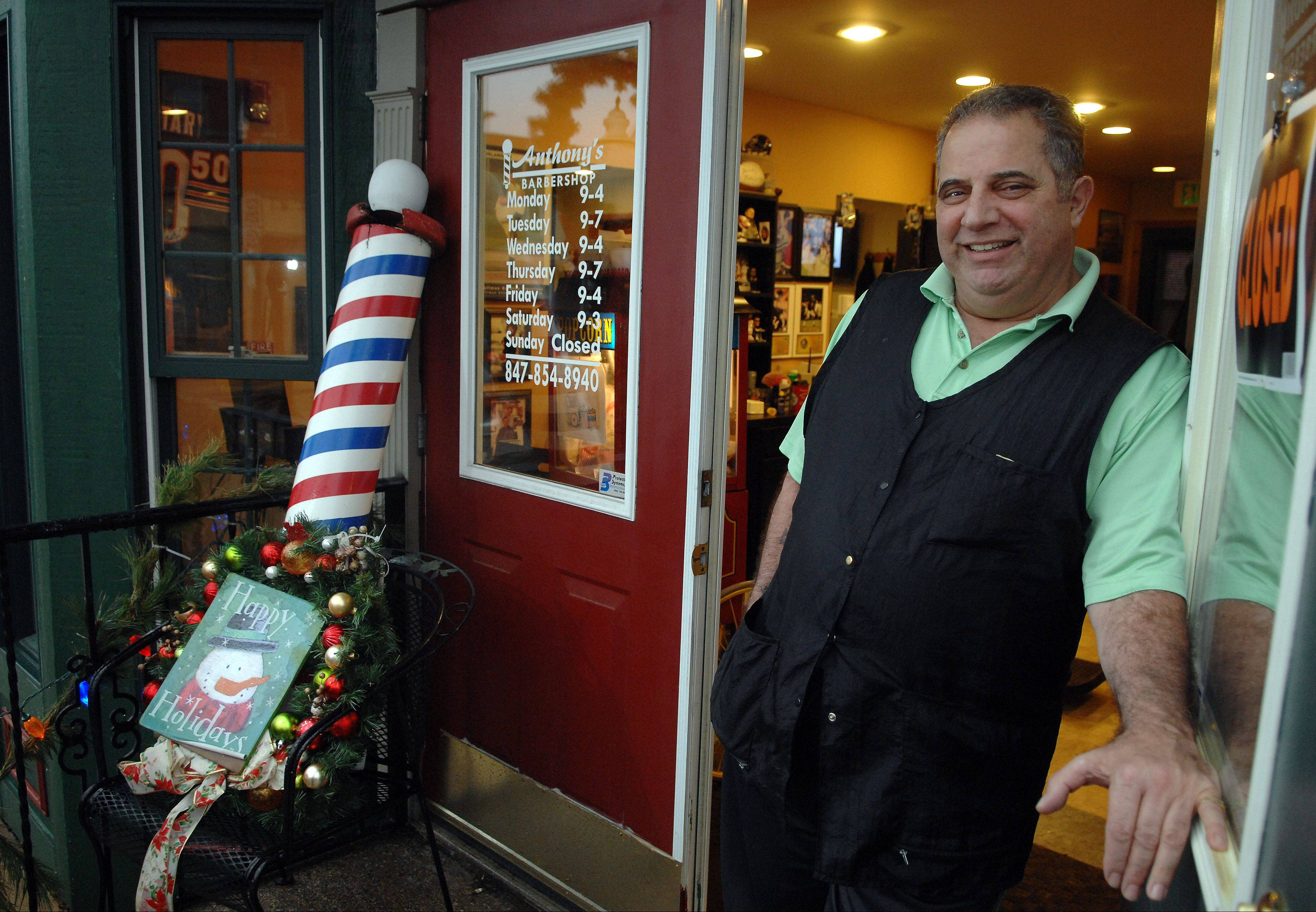 "Anthony Orlandino, 64, of Algonquin, had a ""Happy Birthday, Jesus"" sign stolen from in front of his barbershop, also in Algonquin. He put it up to remind people of the reason for Christmas. Orlandino reported the theft to police, but officers have made no arrests."
