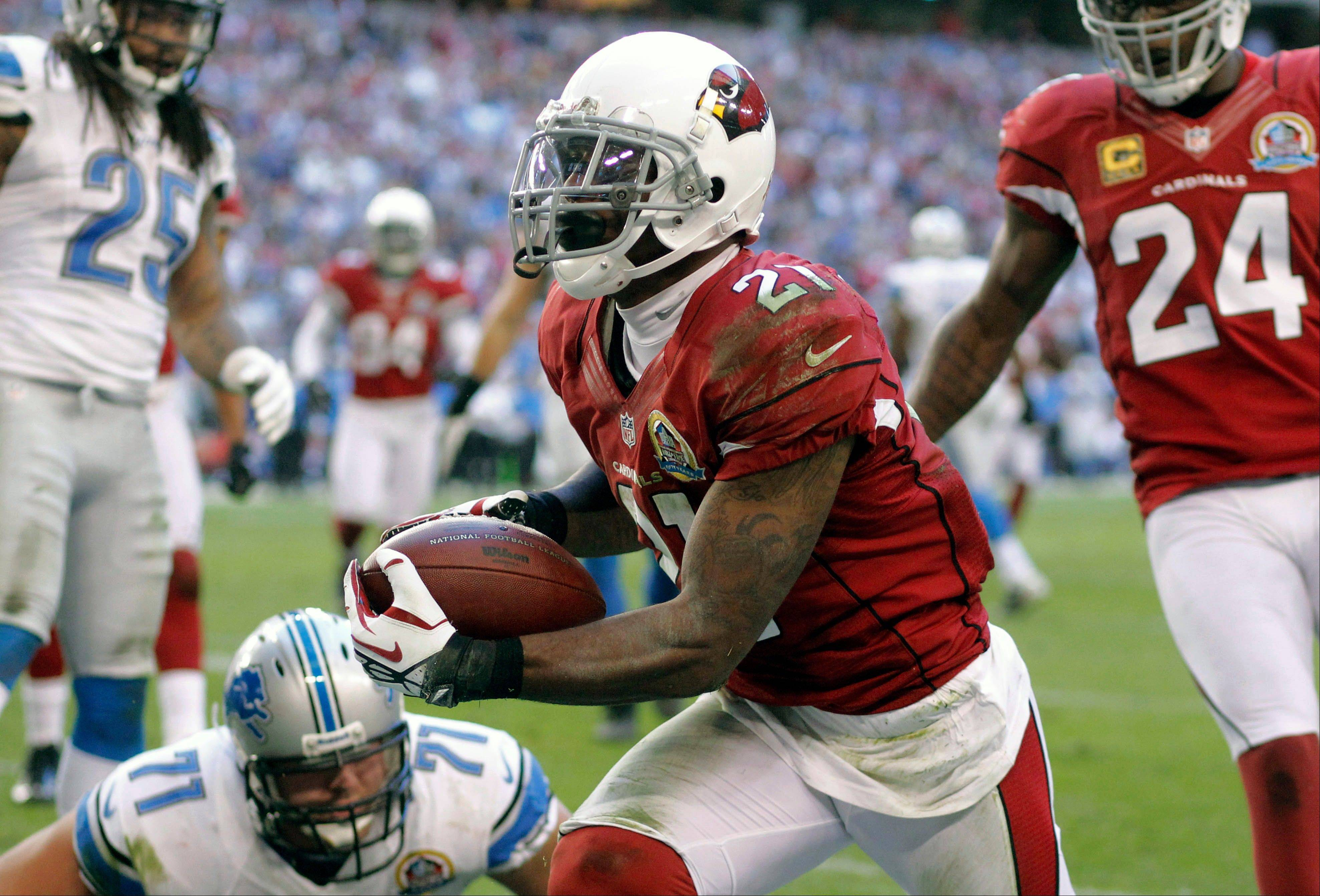 Patrick Peterson returned 4 punts for touchdowns last season, tying the league mark set previously by Devin Hester and Detroit's Jack Christansen.