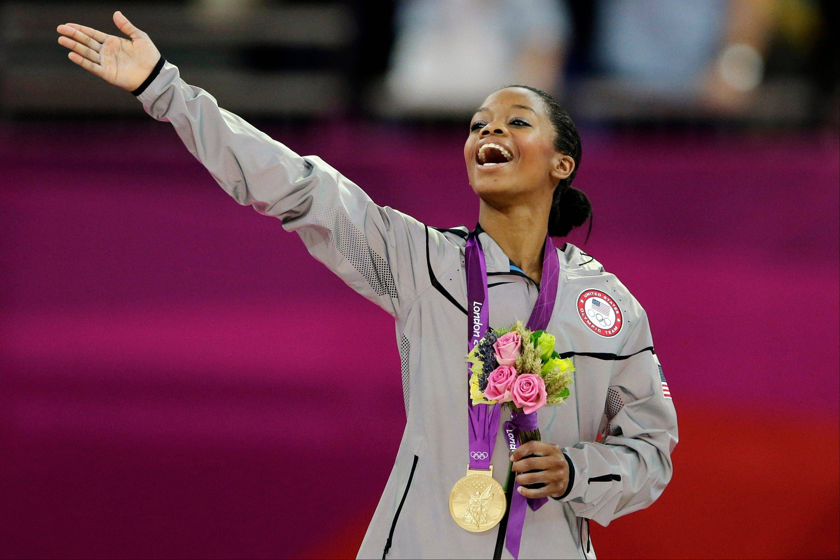 Gabrielle Douglas, the first African-American gymnast to claim the all-around Olympic title, is The Associated Press� 2012 female athlete of the year.
