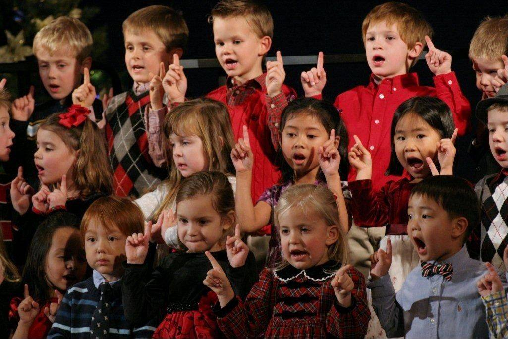 Westlake Christian Academy preschool and kindergarten students perform in the school's first Christmas Concert of the season.