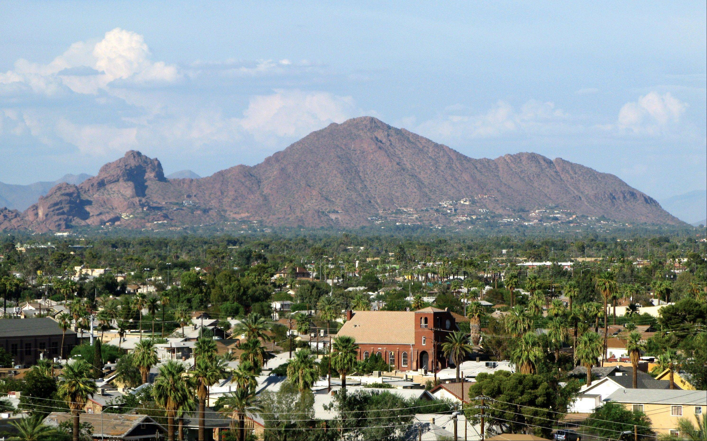 Camelback Mountain is one of the most popular landmarks, rising 2,704 feet above sea level.