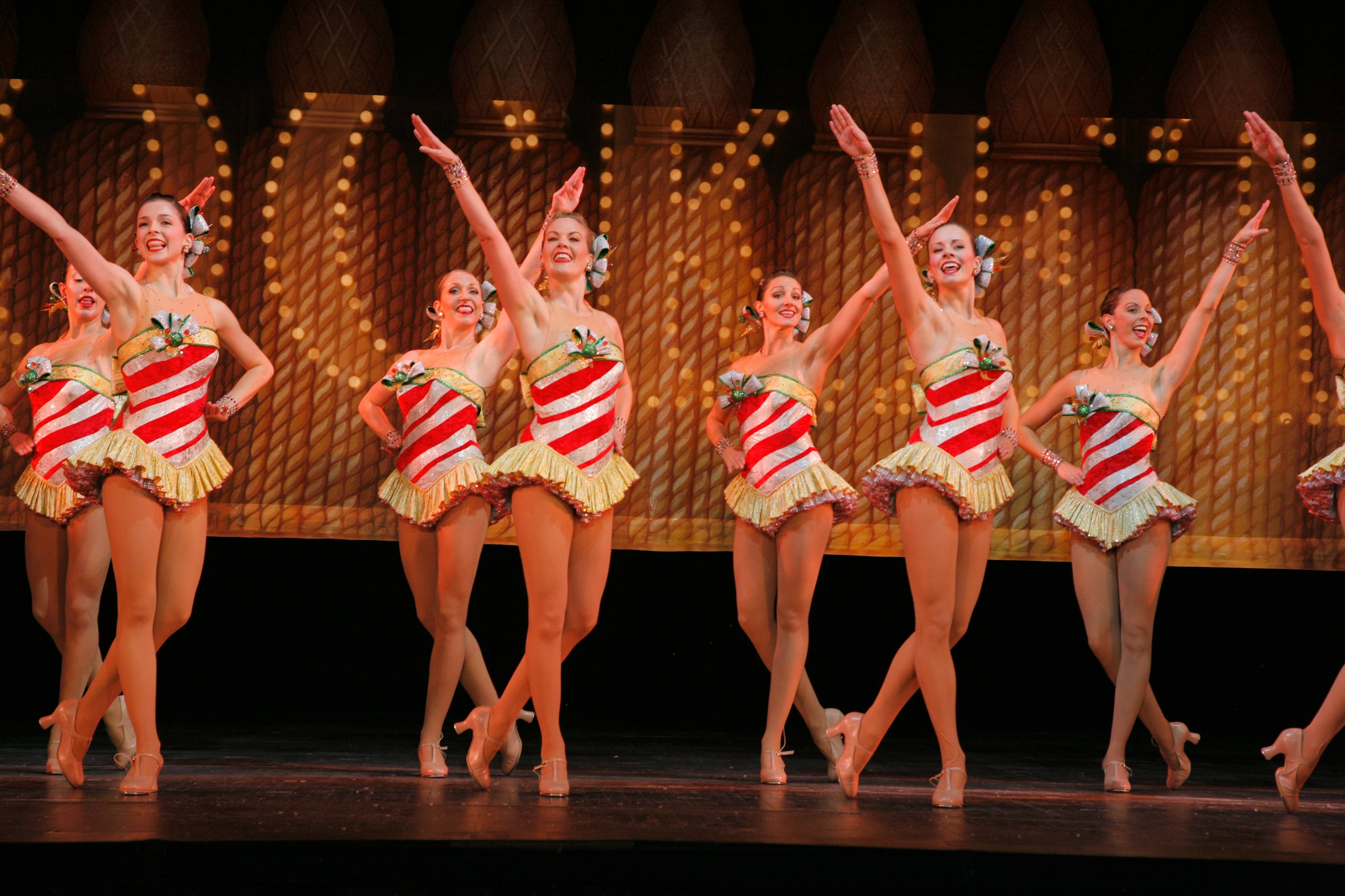 The Rockettes' holiday show includes the tap-infused crowd favorite