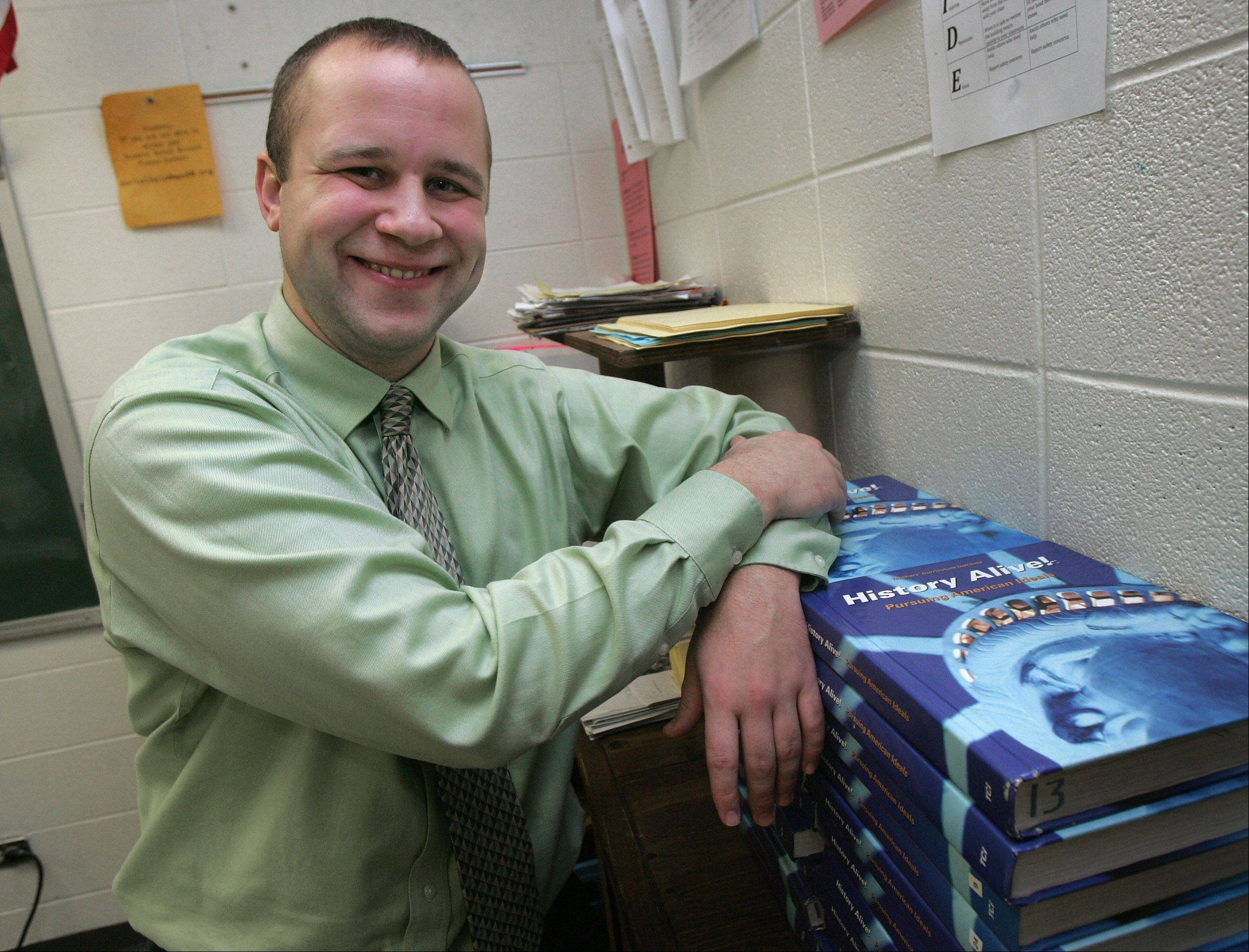 Waukegan High School history teacher Joshua Bill is the winner of the National History Teacher of the Year award. More than 1,000 candidates nationally were nominated.
