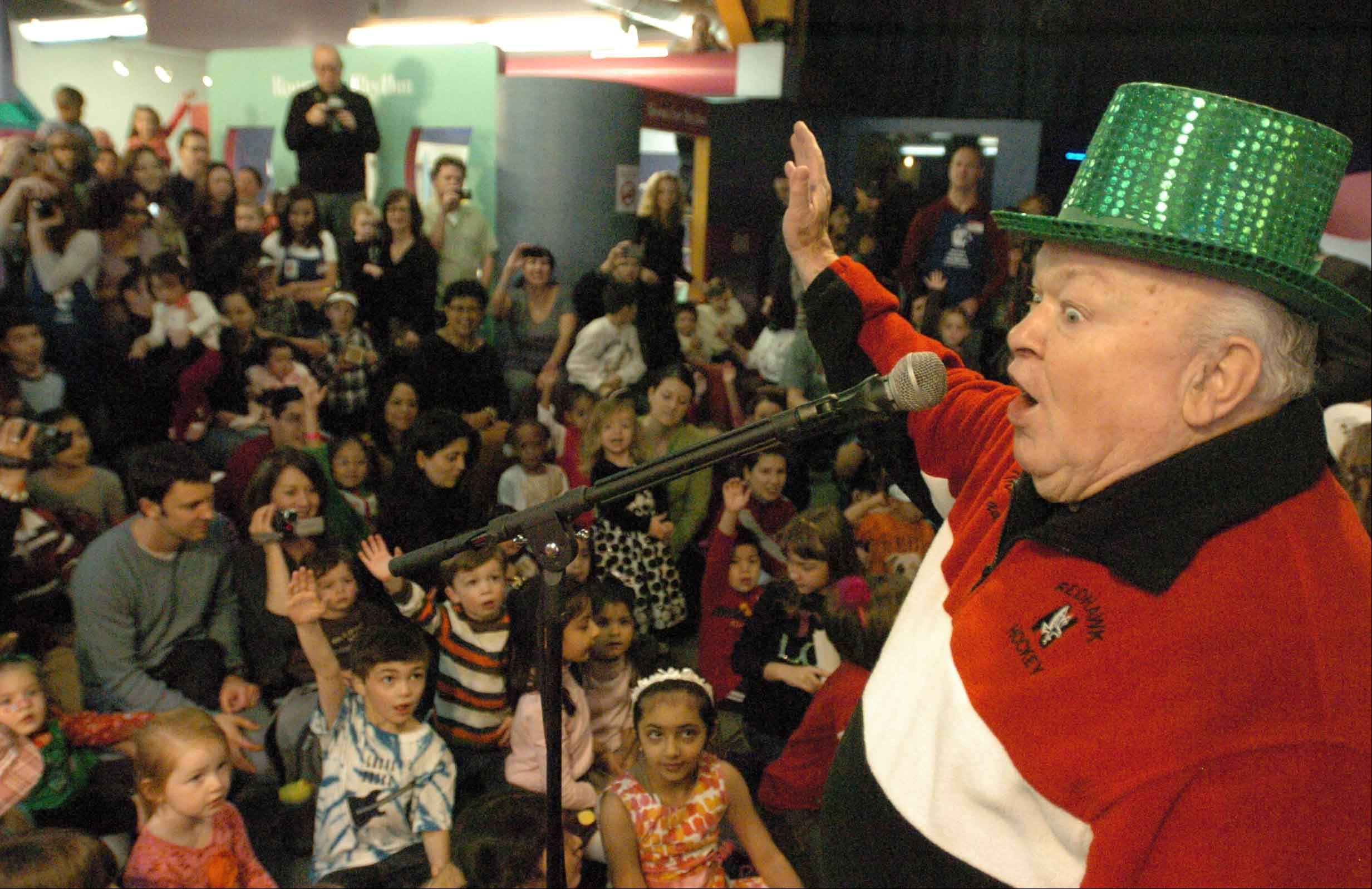 Naperville Mayor George Pradel, who has a hat for nearly every occasion, will lead kids and their parents in a countdown to noon on Dec. 31 as part of the DuPage Children's Museum's annual Bubble Bash celebration, being held this year at North Central College.