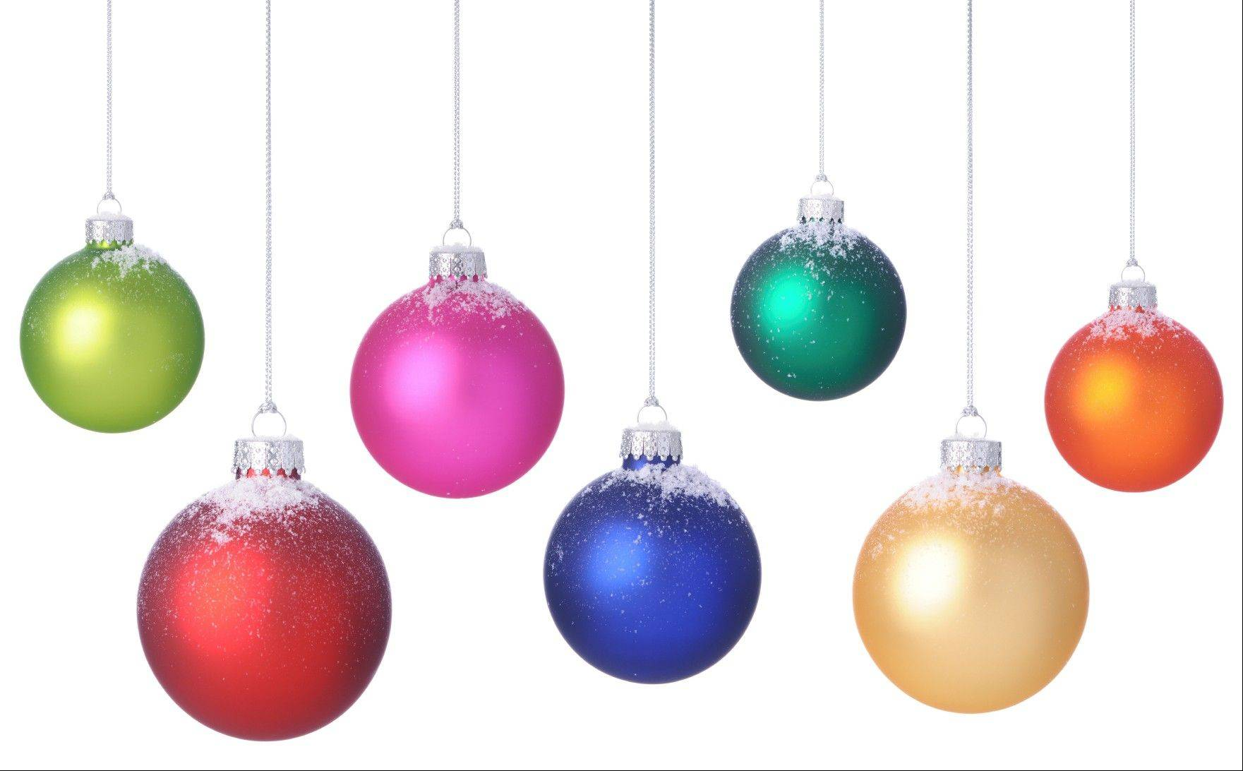 Colorful ornaments can brighten any space.