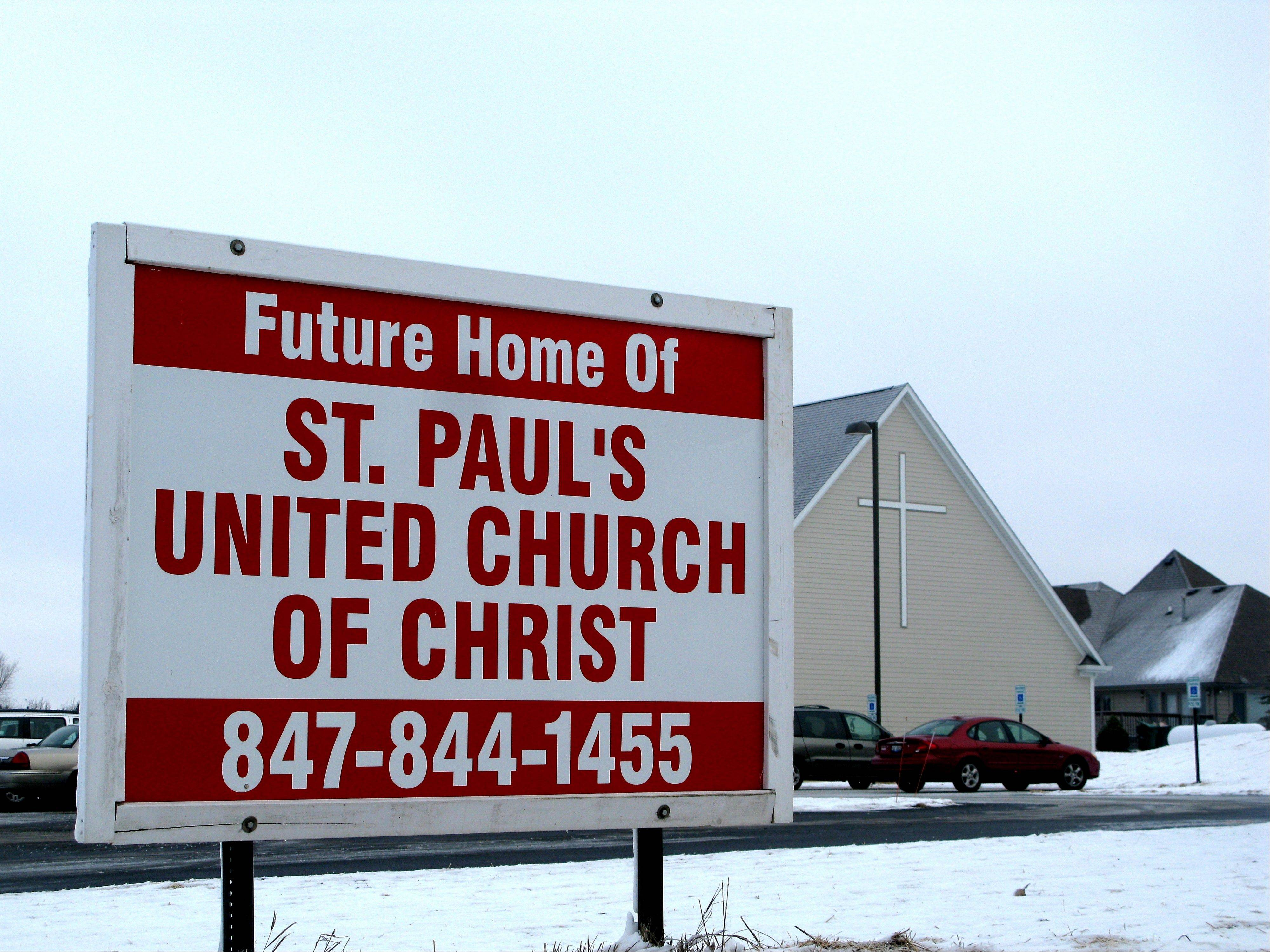 The future became the present for the St. Paul's United Church of Christ community as worshippers celebrated their first service in their new church Sunday morning.