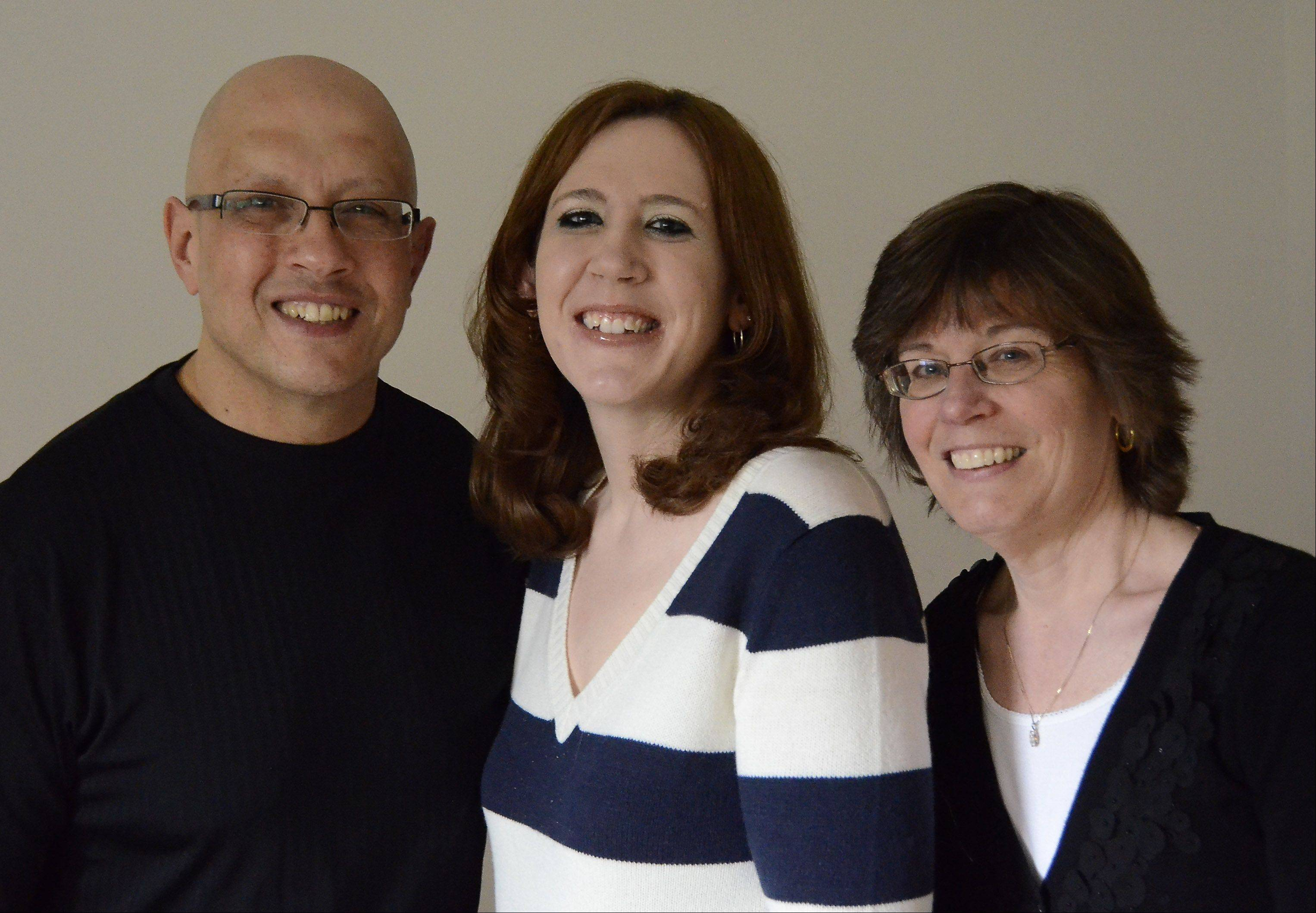 The Guagenti family -- father Lou, daughter Amanda and mom Shirley -- of Arlington Heights are hoping for supportive living housing for people with mental illness in the suburbs. Amanda is battling mental illness.