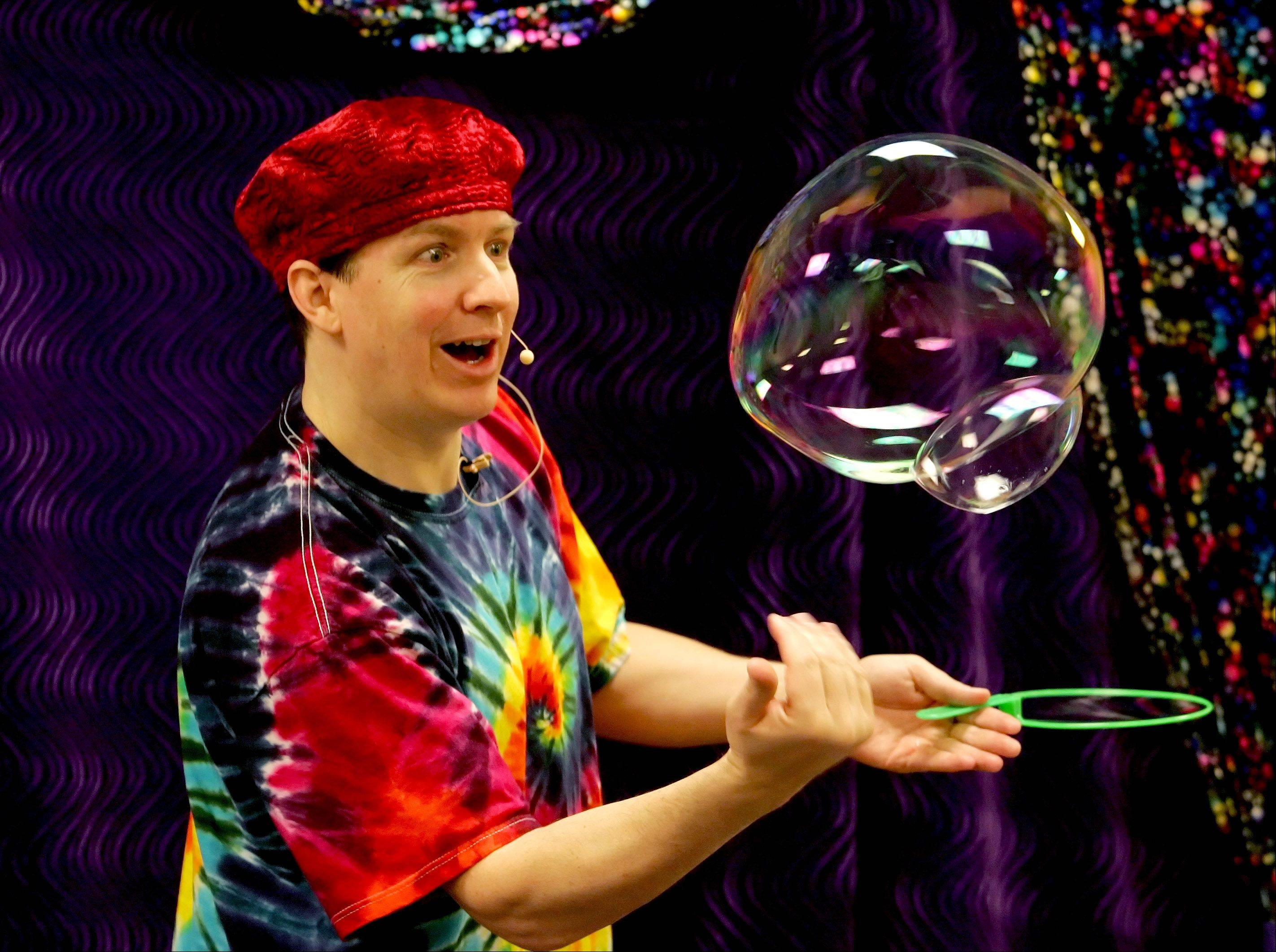 The Bubble Man, Geoff Akins, will be one of this year's featured performers at the DuPage Children's Museum's Bubble Bash.