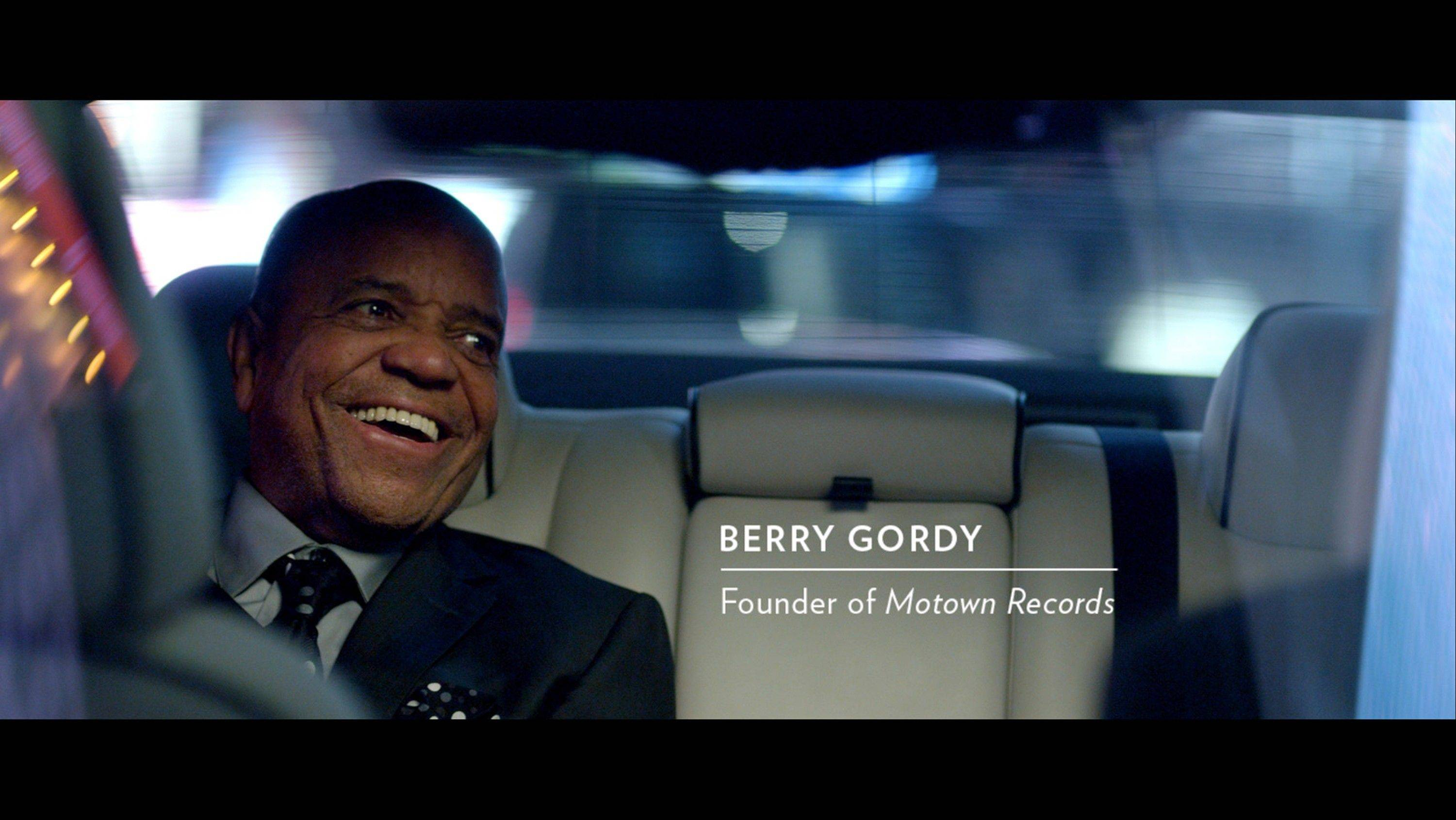 This image provided by the Chrysler Group LLC. shows Motown Records founder Berry Gordy in a Chrysler advertisement. The automaker on Thursday, Dec. 20, 2012 launched the ad campaign that promotes both the new 2013 Chrysler 300 Motown Edition as well as an upcoming Broadway musical based on Gordy's life.