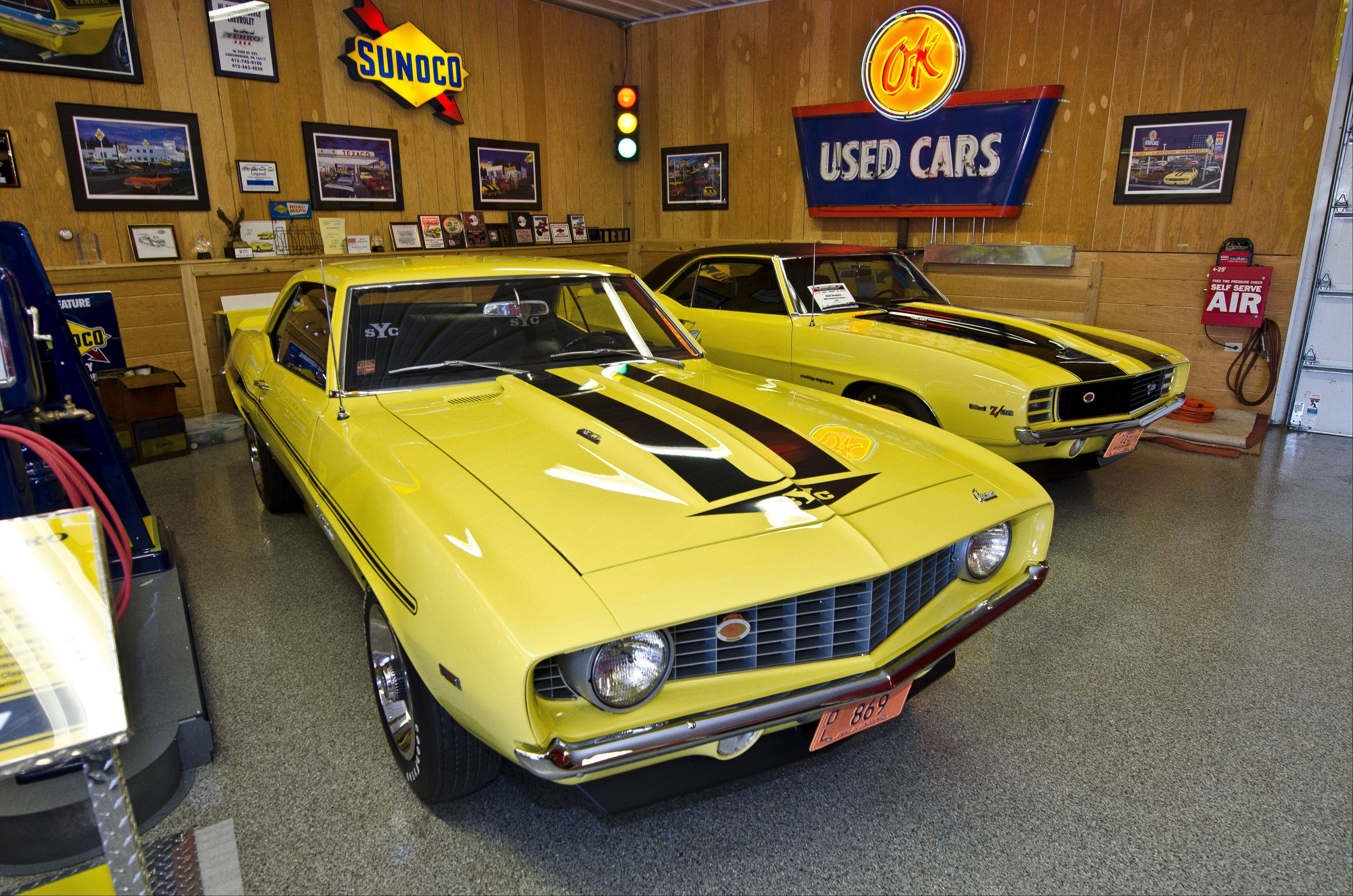 Gregory owns a pair of Daytona Yellow Camaros. His Rally Sport Z/28 was found in downstate Decatur in 1998 and he purchased a Yenko-modified Super Camaro from a friend in Madison, Wis., in 2003.