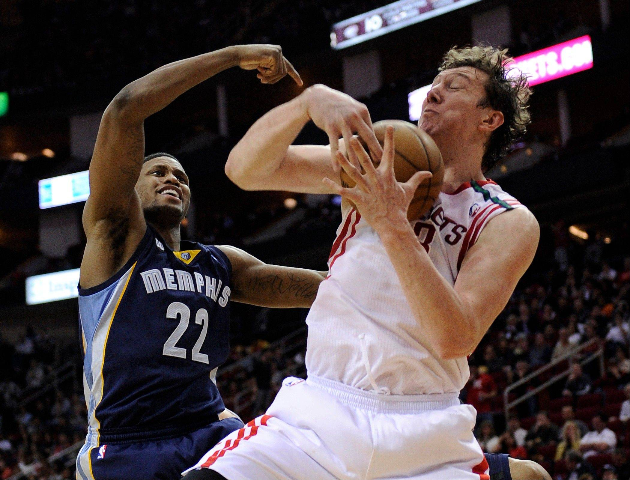 Playing better than 30 minutes a game for the Rockets, former Bull Omer Asik is averaging 11.4 rebounds and 10.6 points this season.
