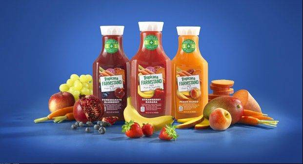 "Tropicana wants more people to its drink juice, so it's extending a carrot — and a bushel of other vegetables. As sugar-conscious Americans continue to shy away from fruit juices, Tropicana is using vegetables in a new drink called ""Farmstand"" set to hit shelves next month."