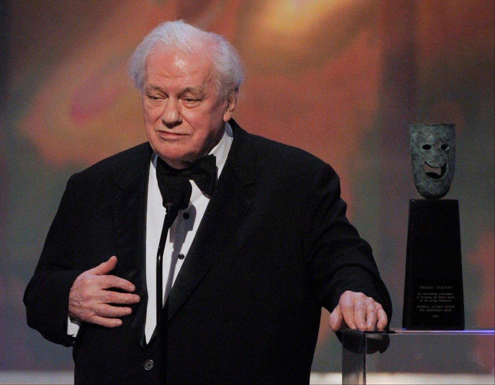 Actor Charles Durning accepts the life achievement award at the 14th Annual Screen Actors Guild Awards. Durning, the two-time Oscar nominee who was dubbed the king of the character actors for his skill in playing everything from a Nazi colonel to the pope, died Monday, Dec. 24, 2012 at his home in New York City. He was 89.