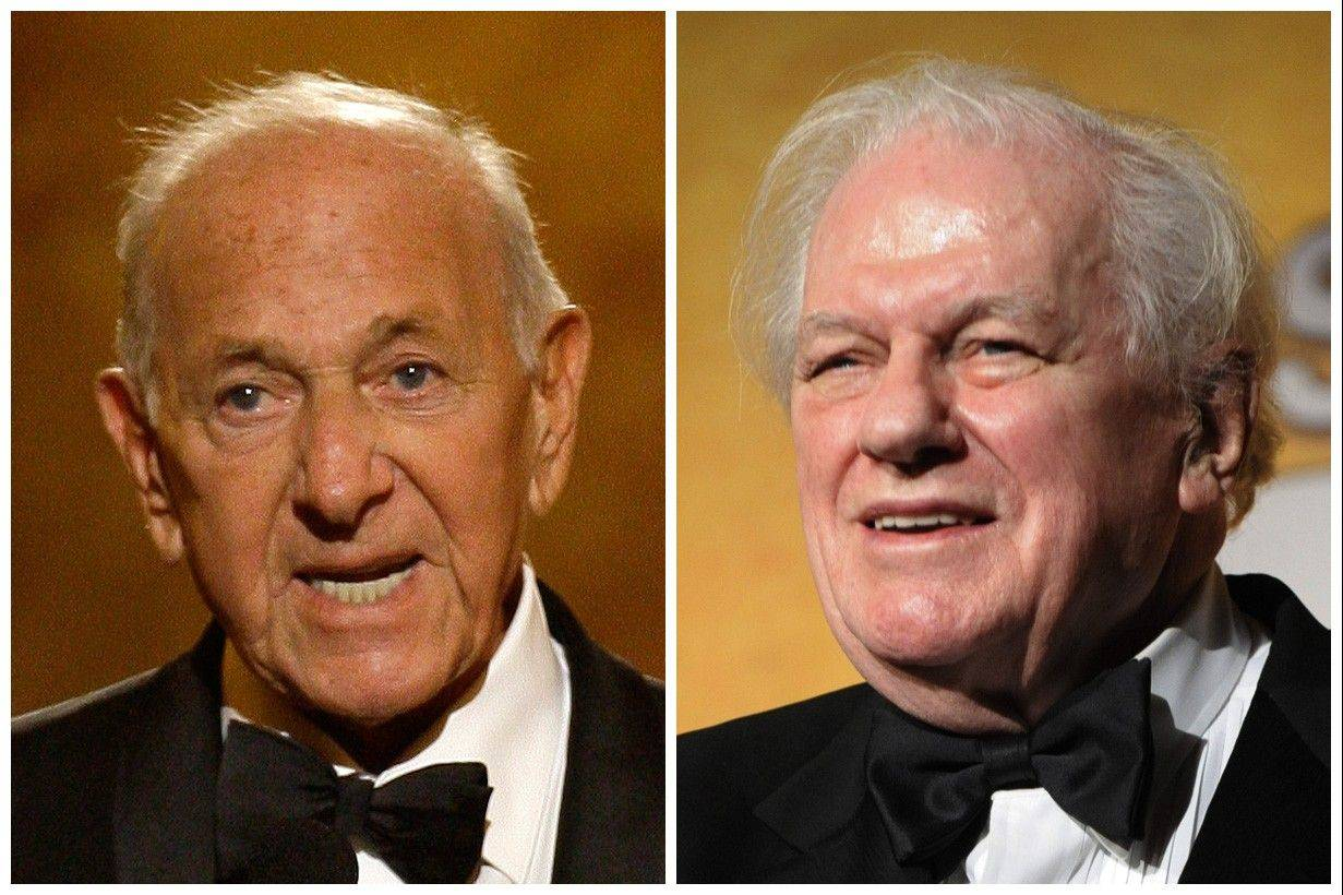 "This combination of Associated Press file photos shows, Jack Klugman, left, speaking at the 62nd Annual Tony Awards in New York in 2008 and Charles Durning, right, during the 14th Annual Screen Actors Guild Awards in Los Angeles. Klugman and Durning, both of whom died Monday -- Klugman at 90 in Los Angeles, Durning at 89 in New York -- spent storied careers building catalogues of roles that classed them indisputably as ""character actors."""