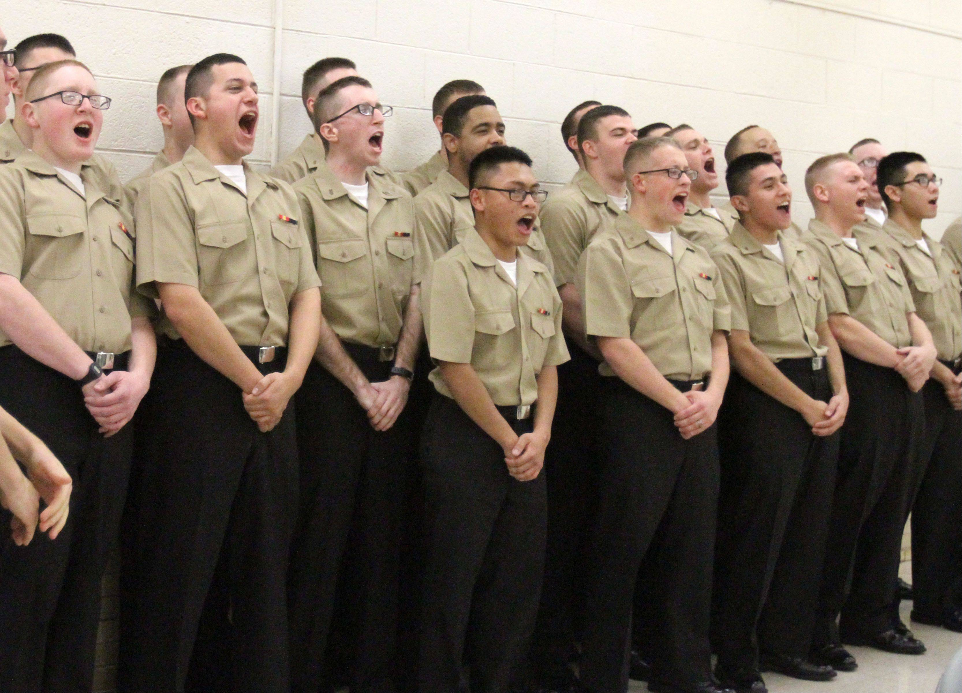 U.S. Navy recruits give a shoutout to Christian Liberty Academy.