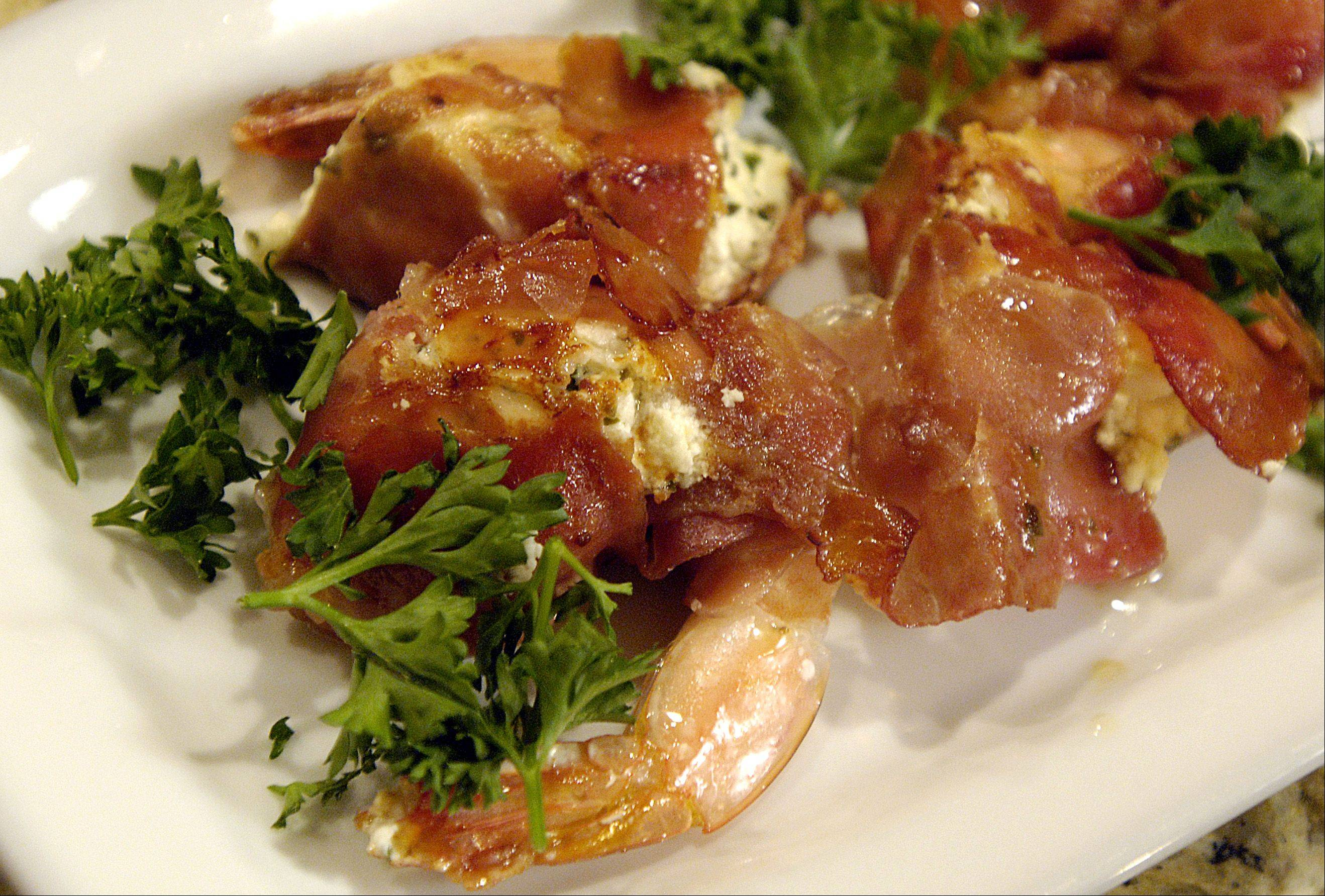 Herbed Goat Cheese and Prosciutto Shrimp