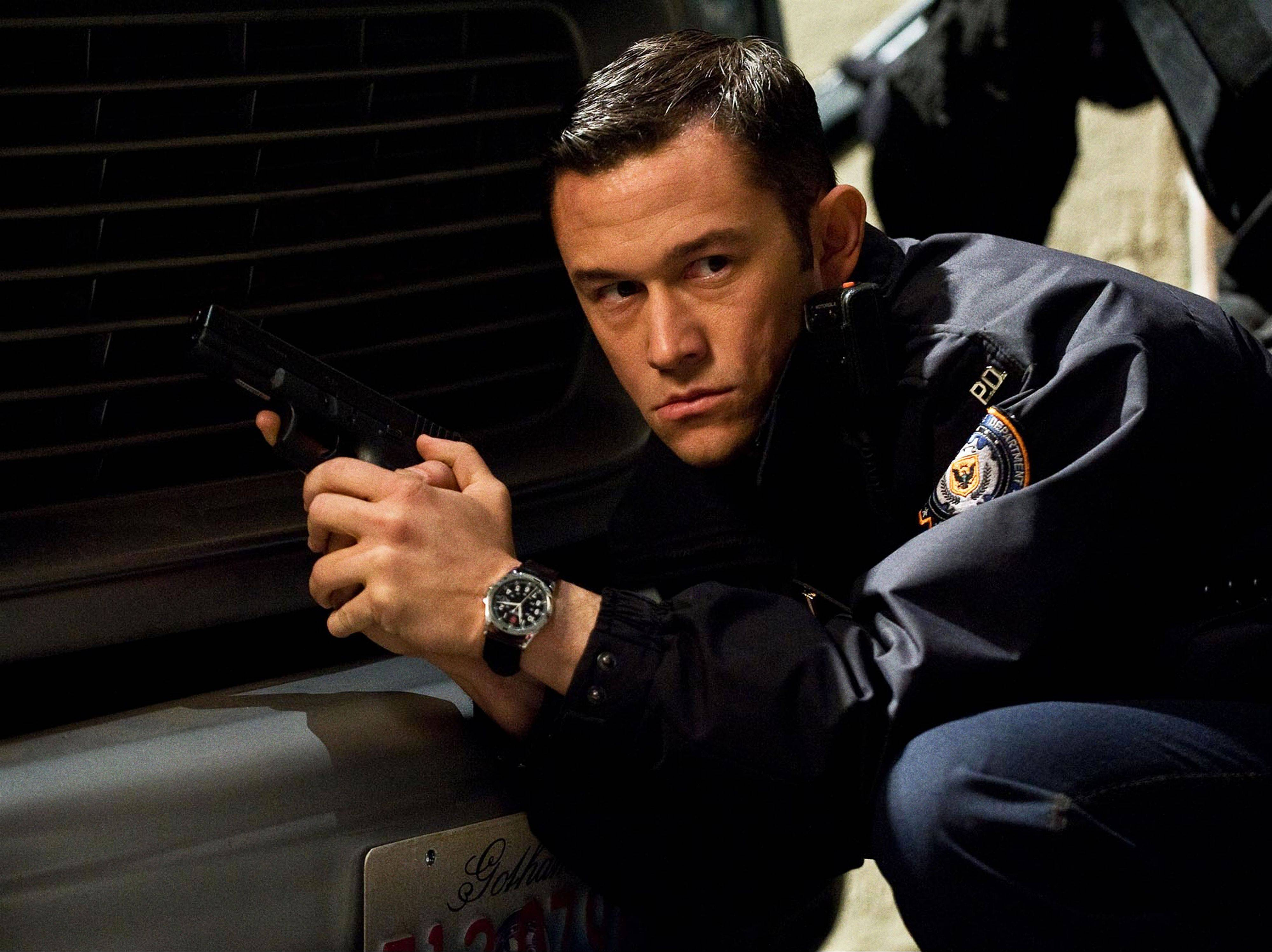 "Joseph Gordon-Levitt in the action thriller ""The Dark Knight Rises,"" which was one of the top movies of 2012."