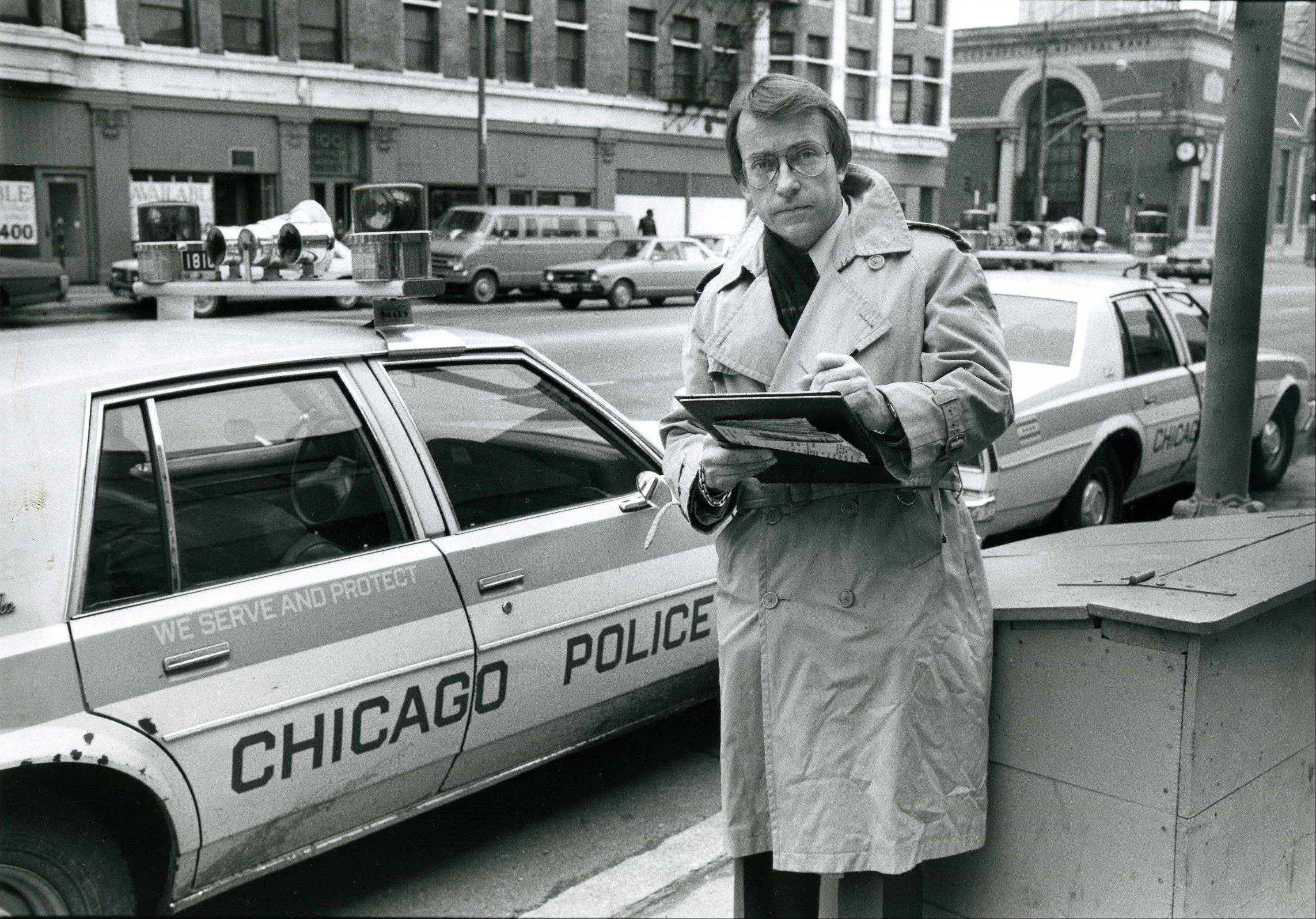 In this Feb. 2, 1983 image released by ABC, ABC News correspondent Richard Threlkeld is shown in Chicago. Threlkeld, who worked for ABC News from 1982-89 and spent the majority of his career at CBS News, died Friday, Jan. 13, 2012, in Amagansett, N.Y., and was pronounced dead at Southampton Hospital. He lived nearby in East Hampton.�
