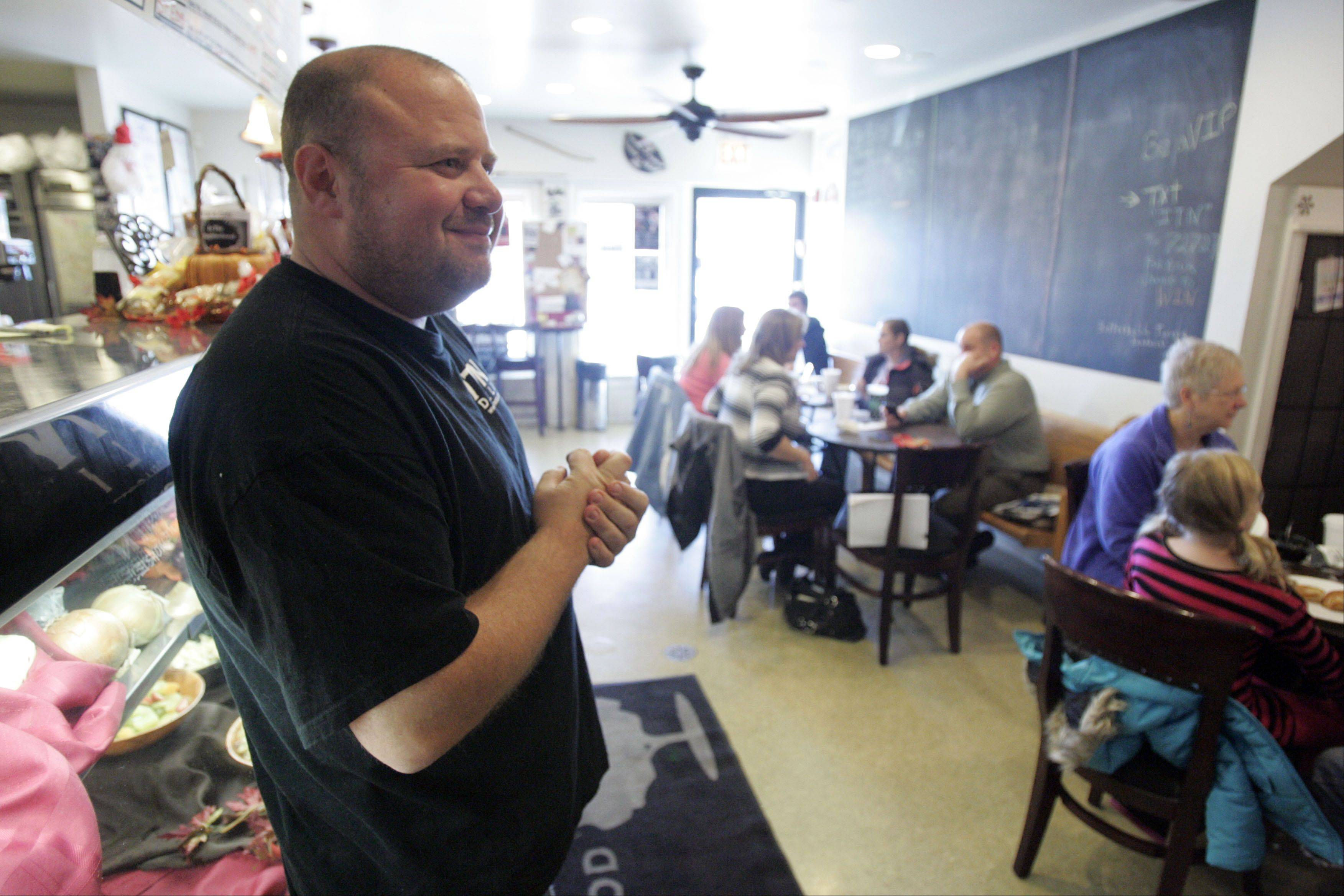 Jeff Turner's In the Neighborhood Deli has become a gathering place for many people to enjoy good food and good company. Turner, known in Elgin for his service to the community and the free holiday dinners he organizes, was named one of the 10 Outstanding Young People of 2012 by the Illinois Jaycees.