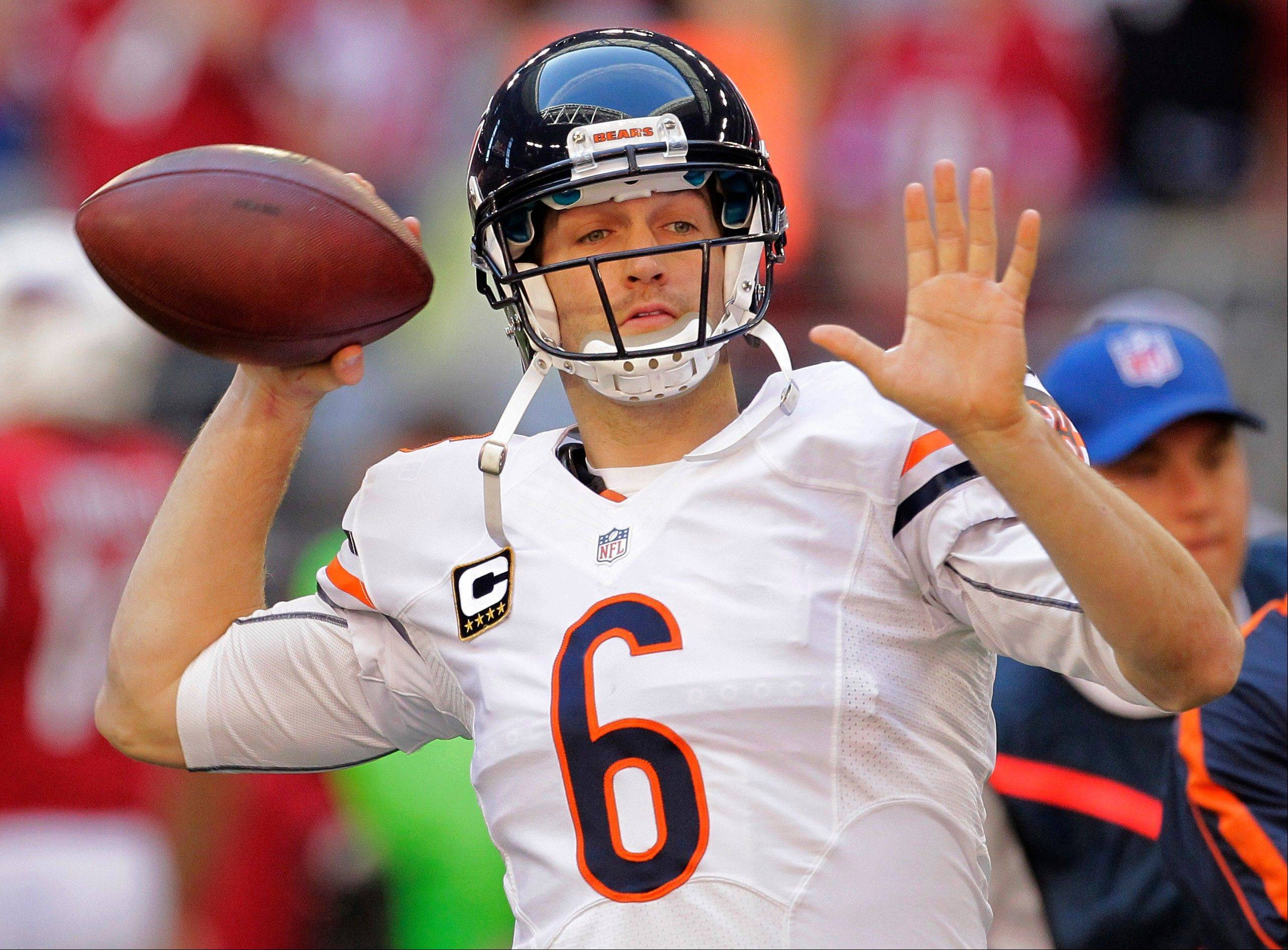 Bears quarterback Jay Cutler's passer rating for the season is 80.2, 22nd in the NFL.